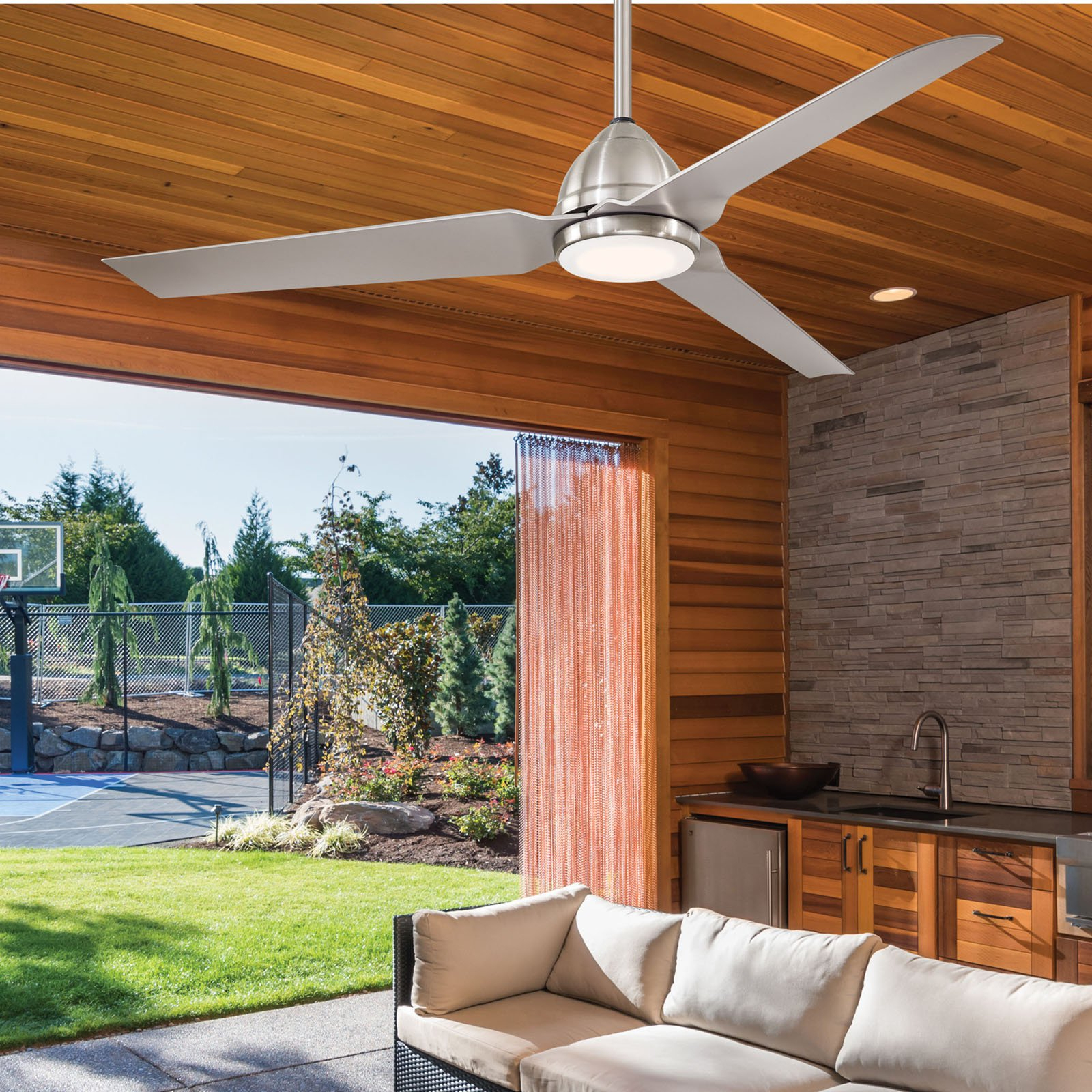 Well Known Java 3 Blade Outdoor Ceiling Fans Within Minka Aire Java Ceiling Fan With Light (View 18 of 20)