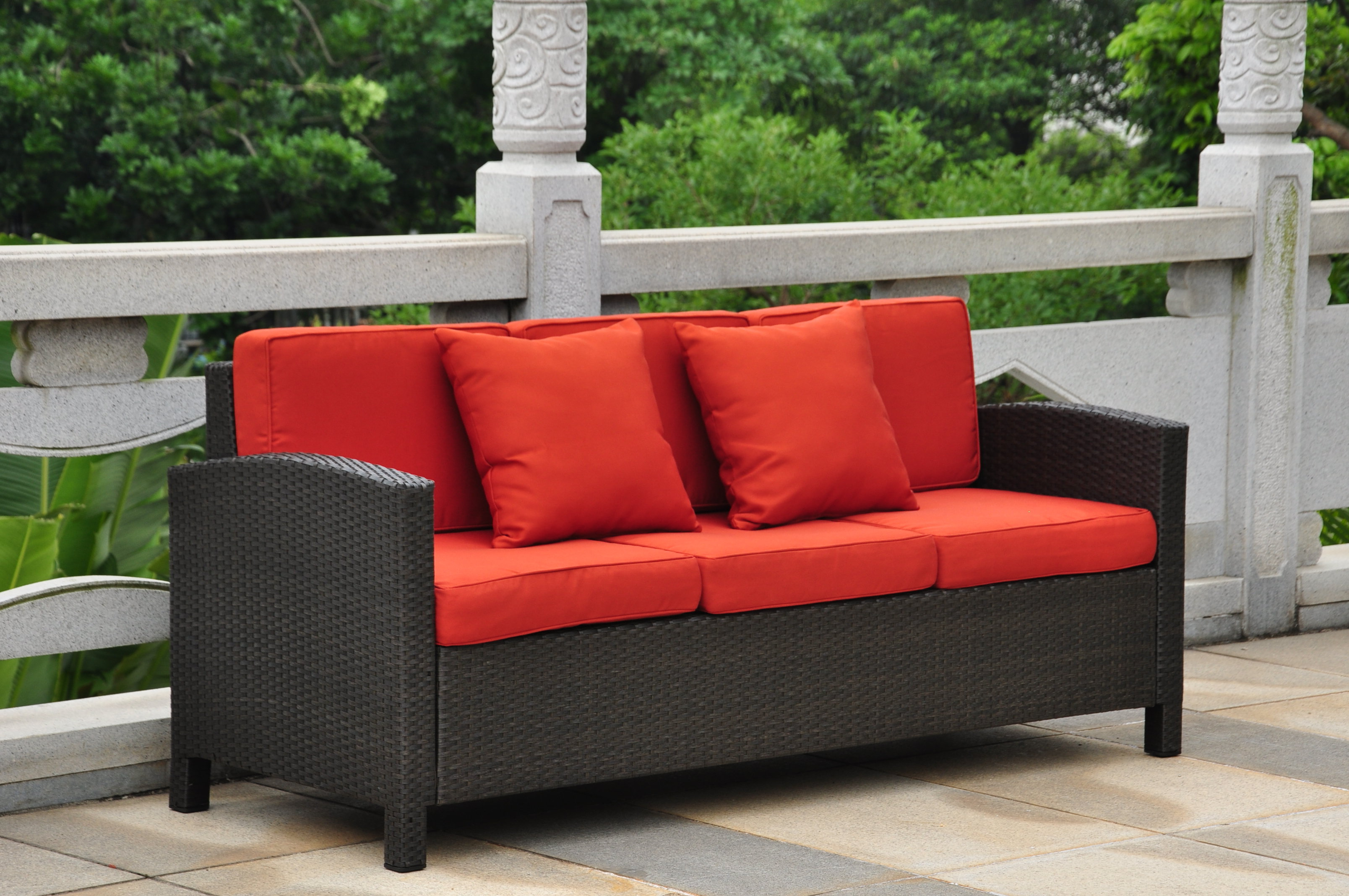Well Known Katzer Patio Sofas With Cushions With Regard To Katzer Patio Sofa With Cushions (View 20 of 20)