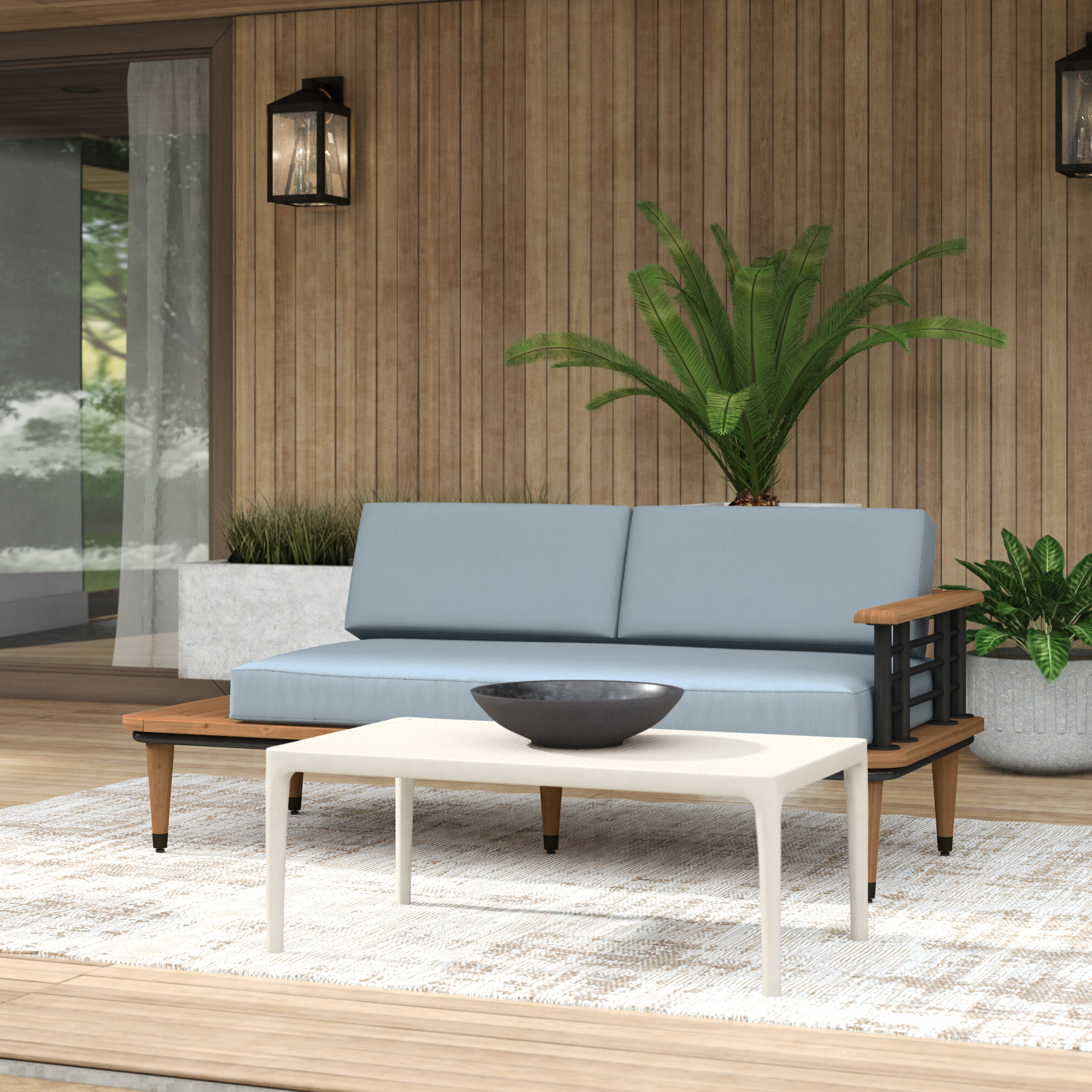 Well Known Mercury Row Clary Teak Lounge Patio Daybed With Cushion With Regard To Clary Teak Lounge Patio Daybeds With Cushion (Gallery 1 of 20)