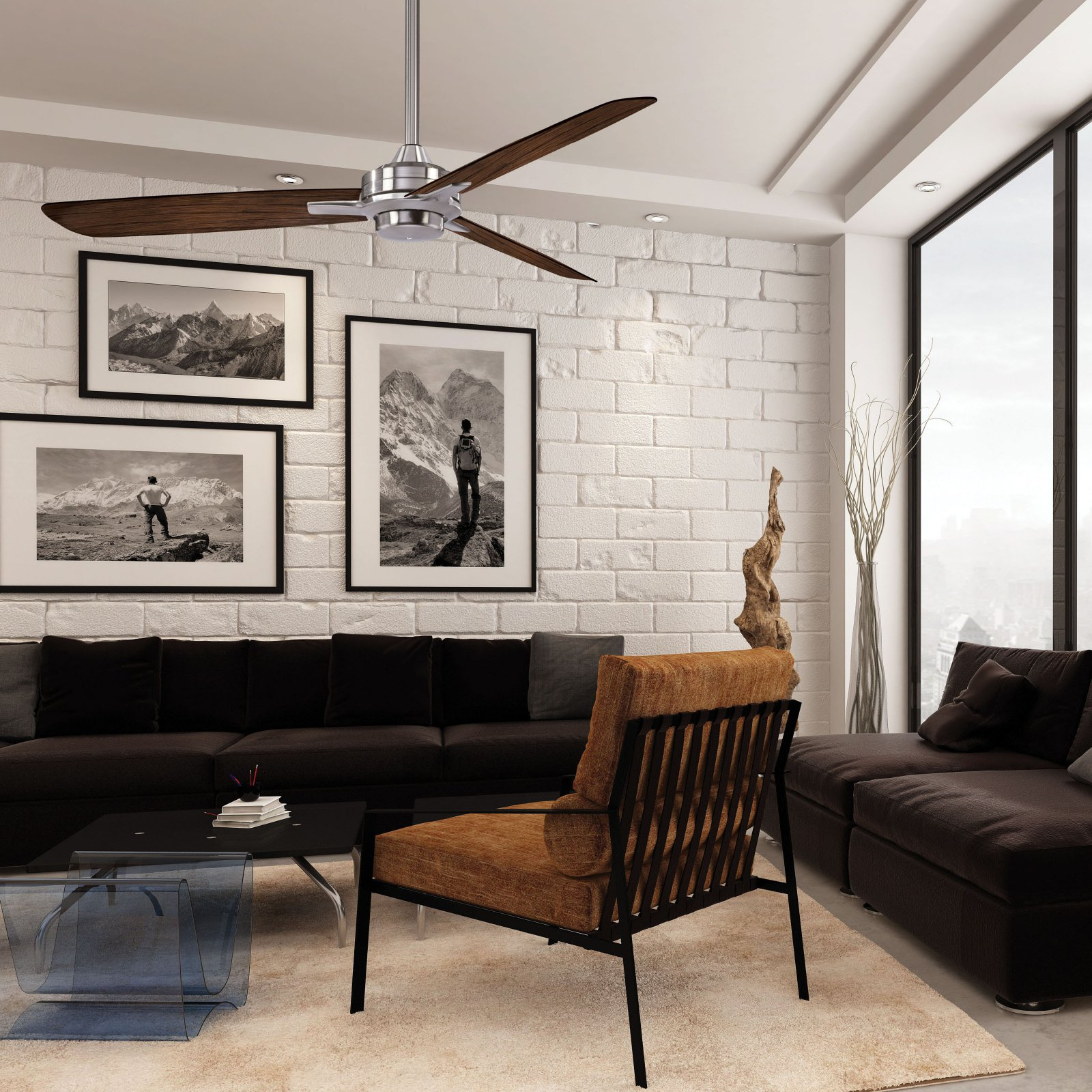 Well Known Minka Aire Rudolph F727 Ceiling Fan With Regard To Rudolph 3 Blade Ceiling Fans (View 8 of 20)