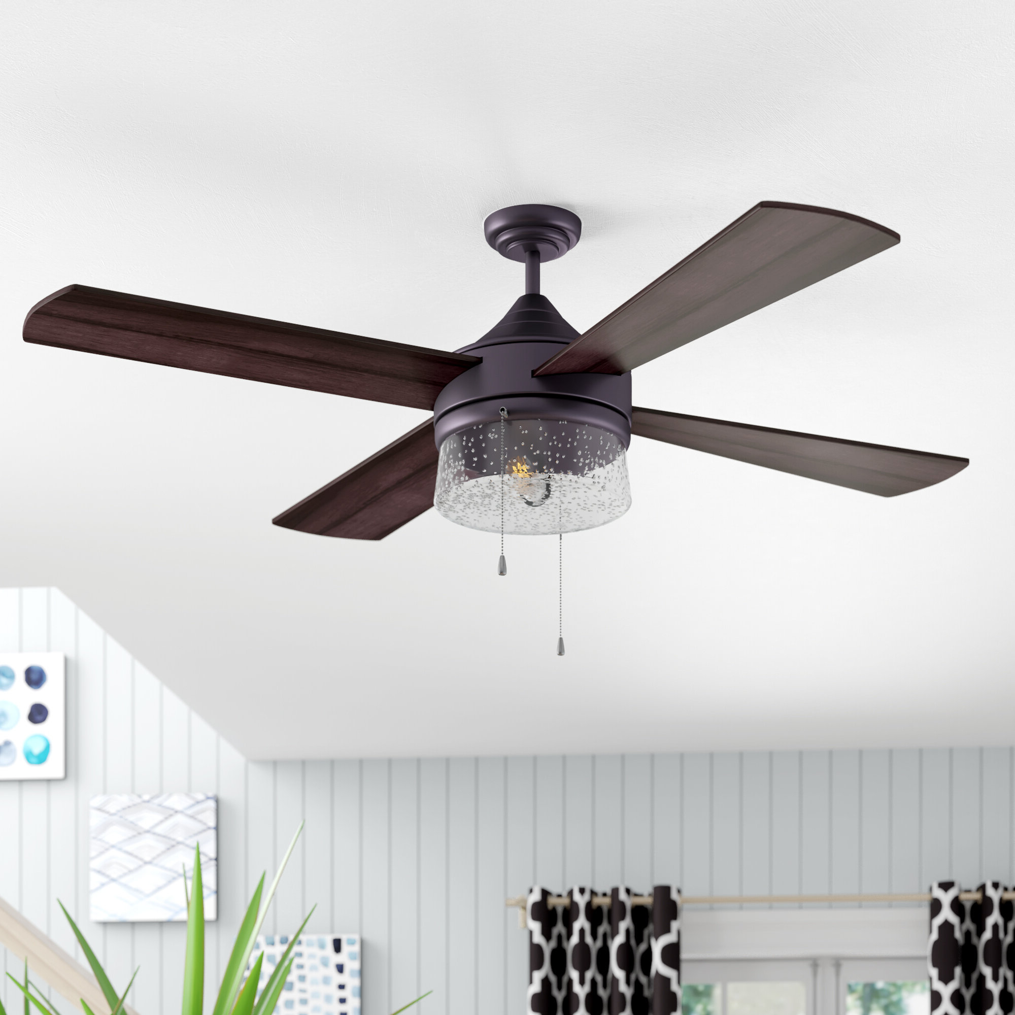 """Well Known O'hanlon 5 Blade Led Ceiling Fans Throughout 48"""" Renderos 4 Blade Led Ceiling Fan (View 18 of 20)"""