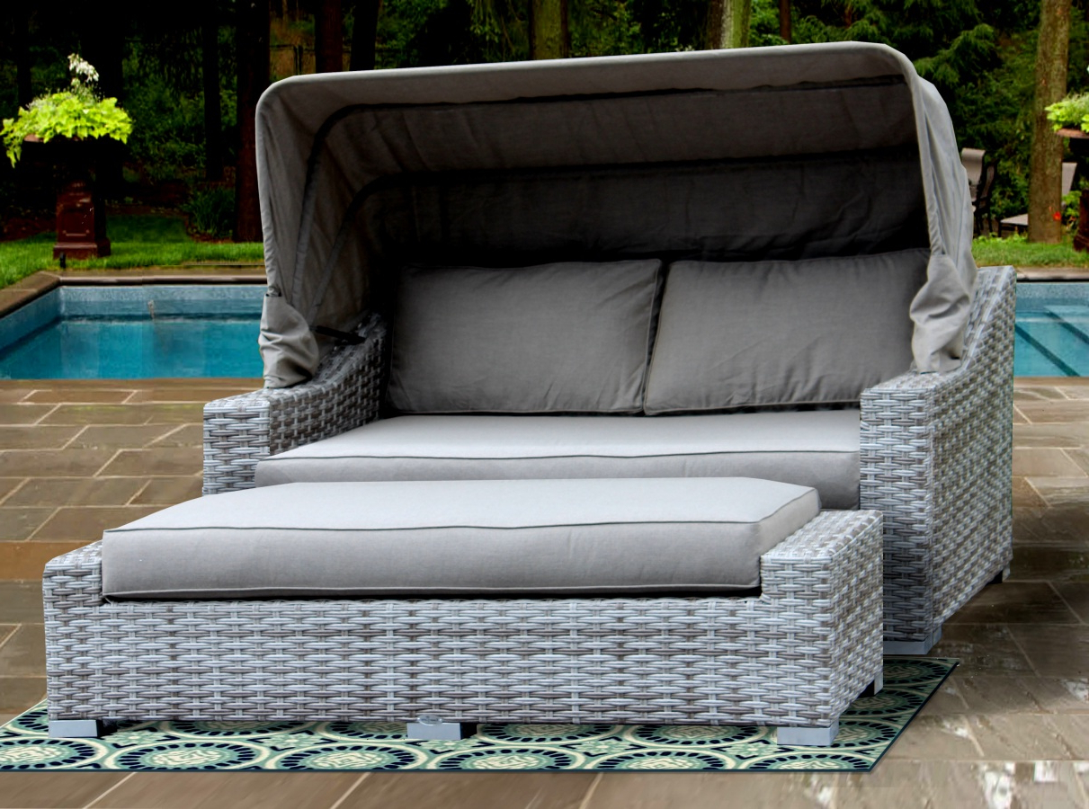 Well Known Patio Day Bed Find Olu Bamboo Large Round Daybed With With Regard To Leiston Round Patio Daybeds With Cushions (View 14 of 20)