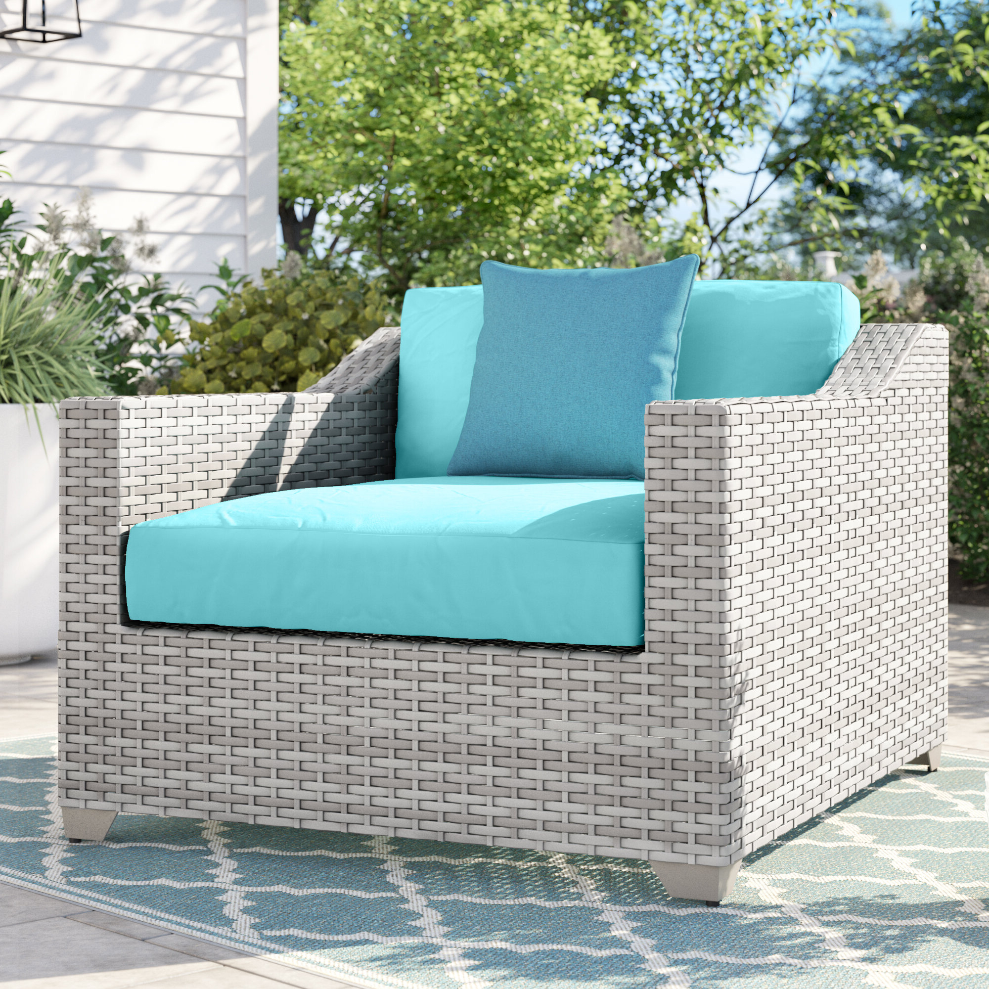 Well Known Patio Sofas With Cushions Within Sol 72 Outdoor Falmouth Patio Chair With Cushions & Reviews (View 20 of 20)