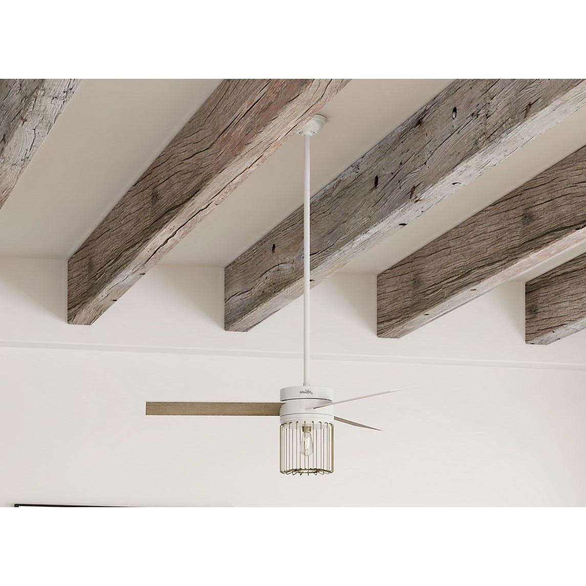 Well Known Ronan 3 Blade Ceiling Fans With Regard To Hunter Ronan Fresh White And Modern Brass 52 Inch 3 Aged Oak (View 8 of 20)