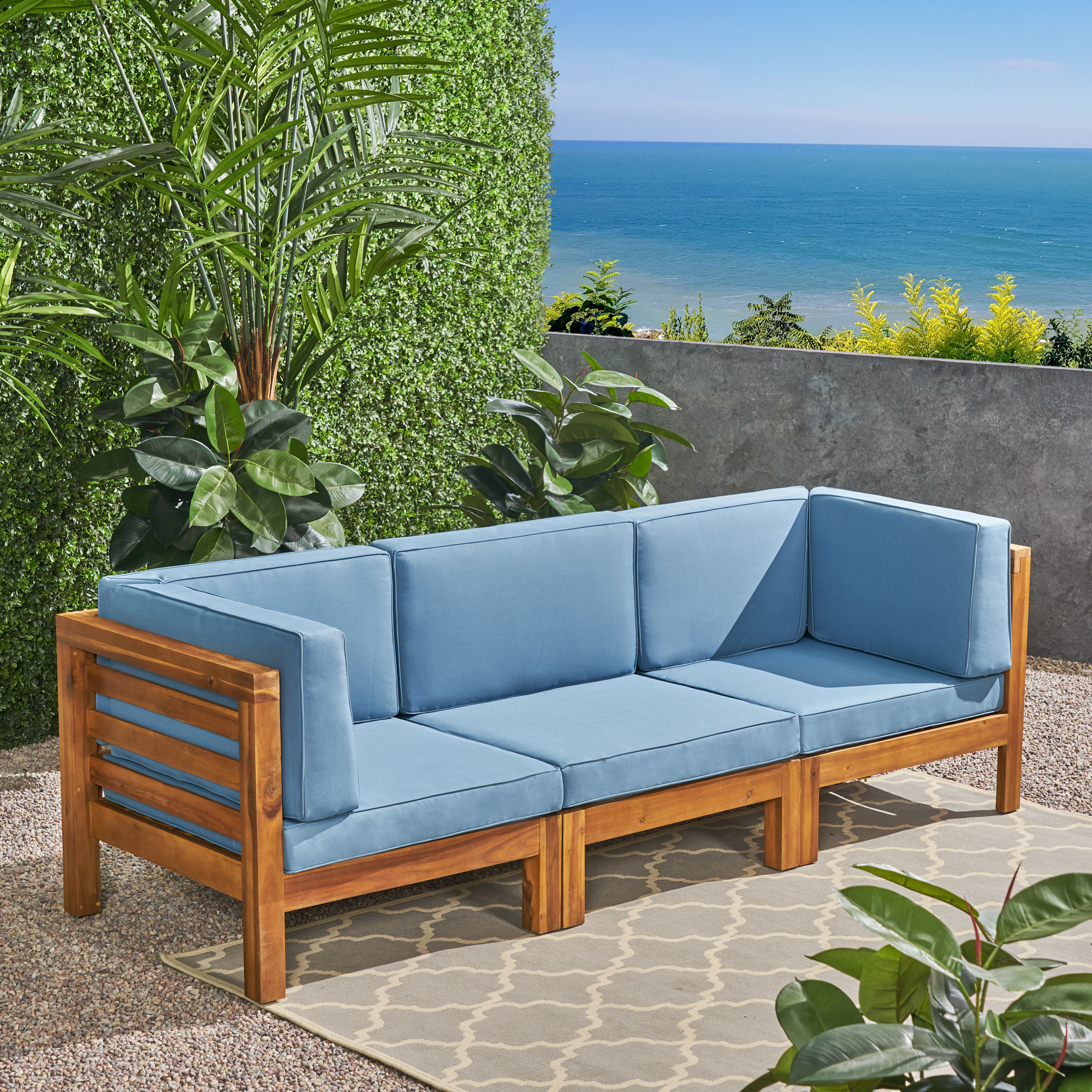 Featured Photo of Seaham Patio Sectionals with Cushions