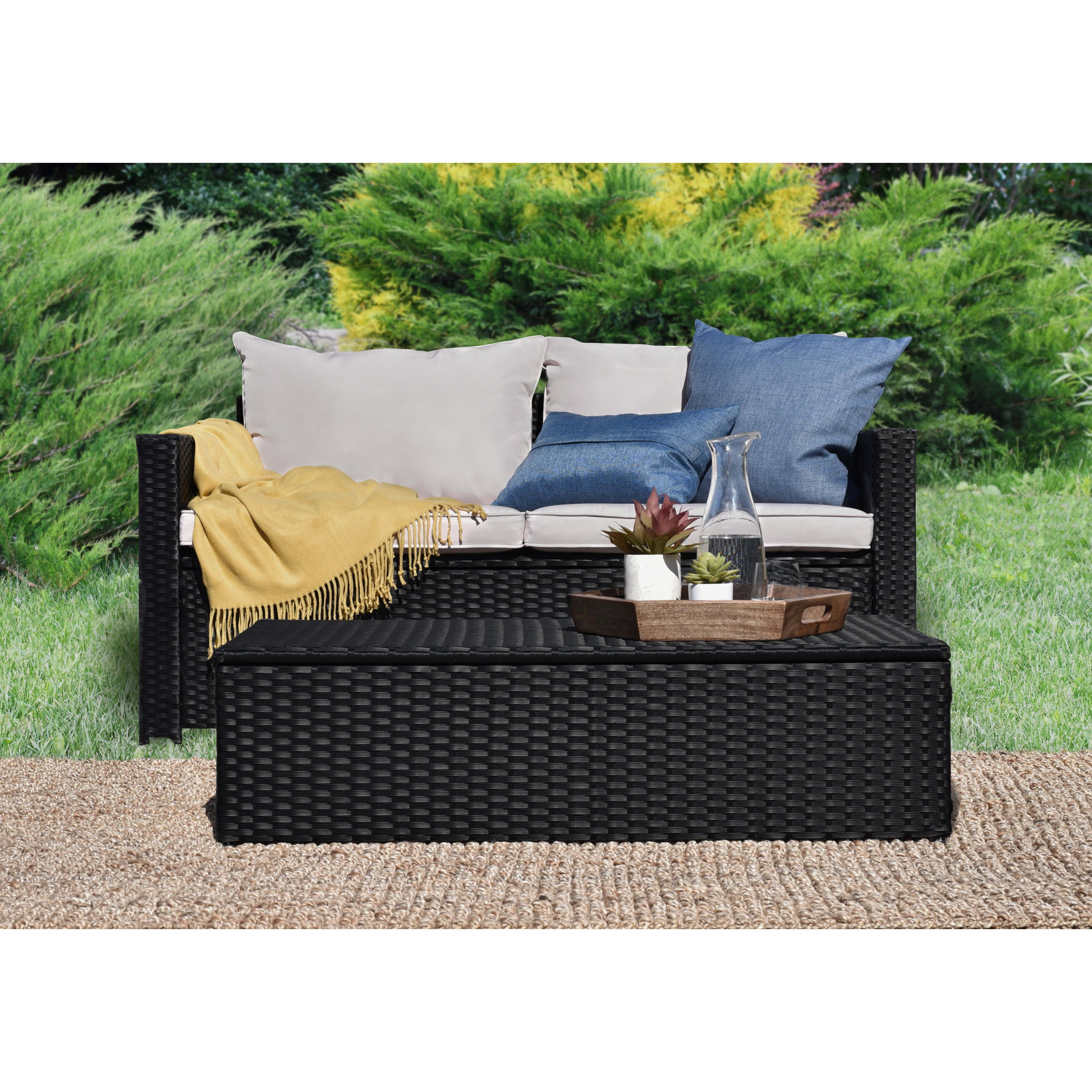 Well Known Serta Laguna Outdoor Storage Sofa And Coffee Table (View 17 of 20)