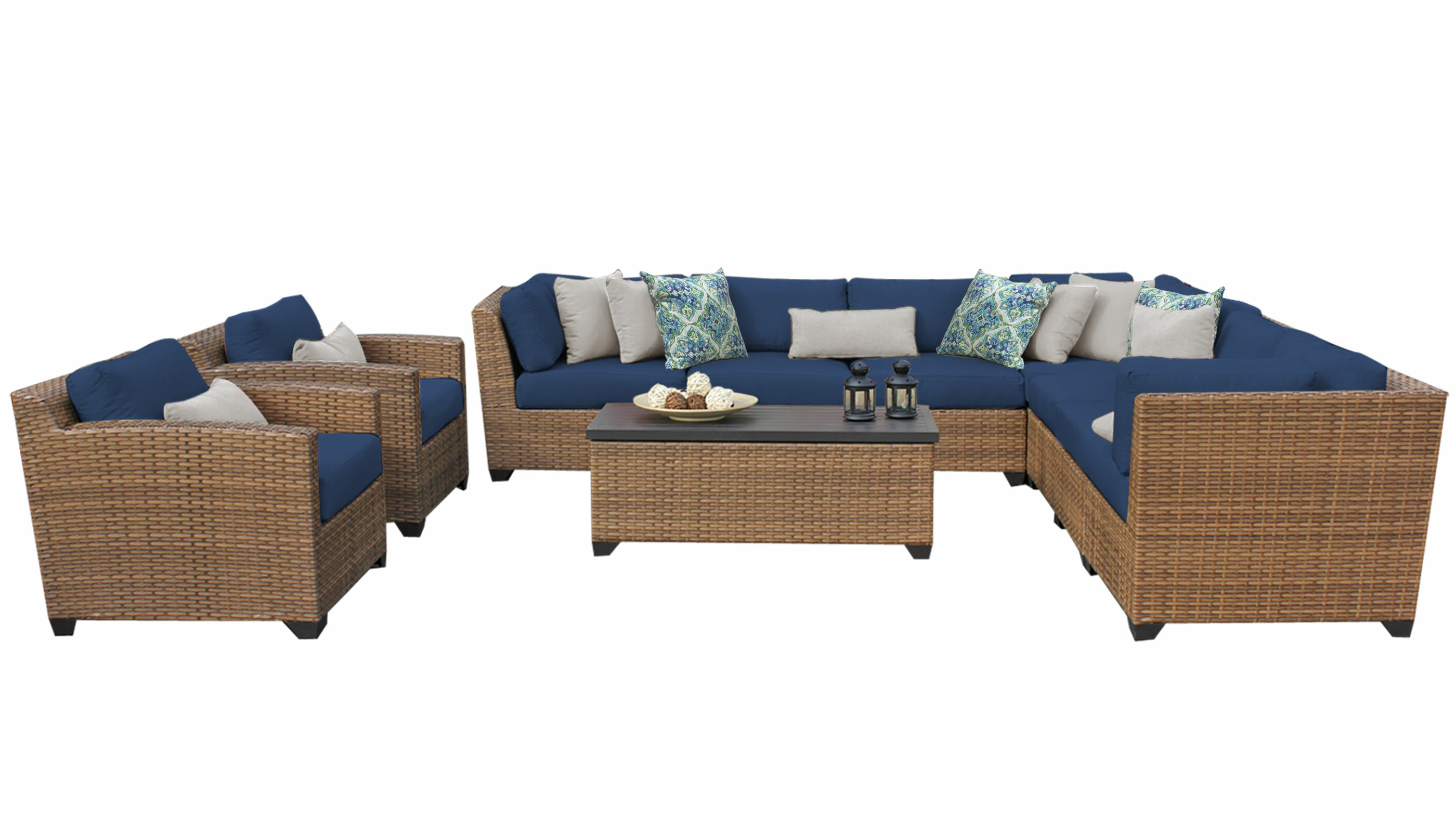 Well Known Waterbury 10 Piece Sectional Seating Group With Cushions Throughout Waterbury Curved Armless Sofa With Cushions (View 10 of 20)