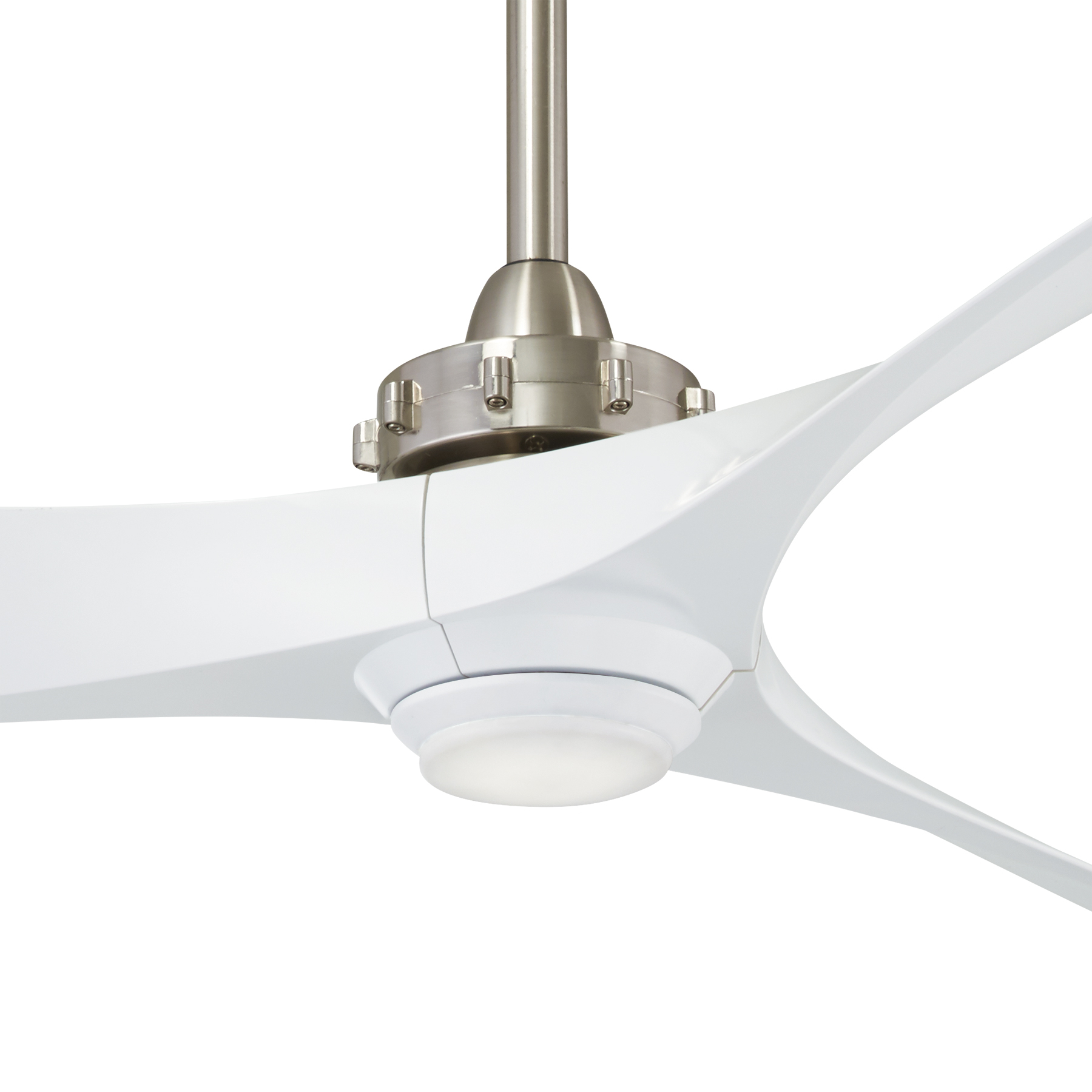 Well Liked 60 Aviation 3 Blade Ceiling Fans Intended For Minka Group® :: Brands :: Minka Aire® :: F853l Bn/wh (View 15 of 20)