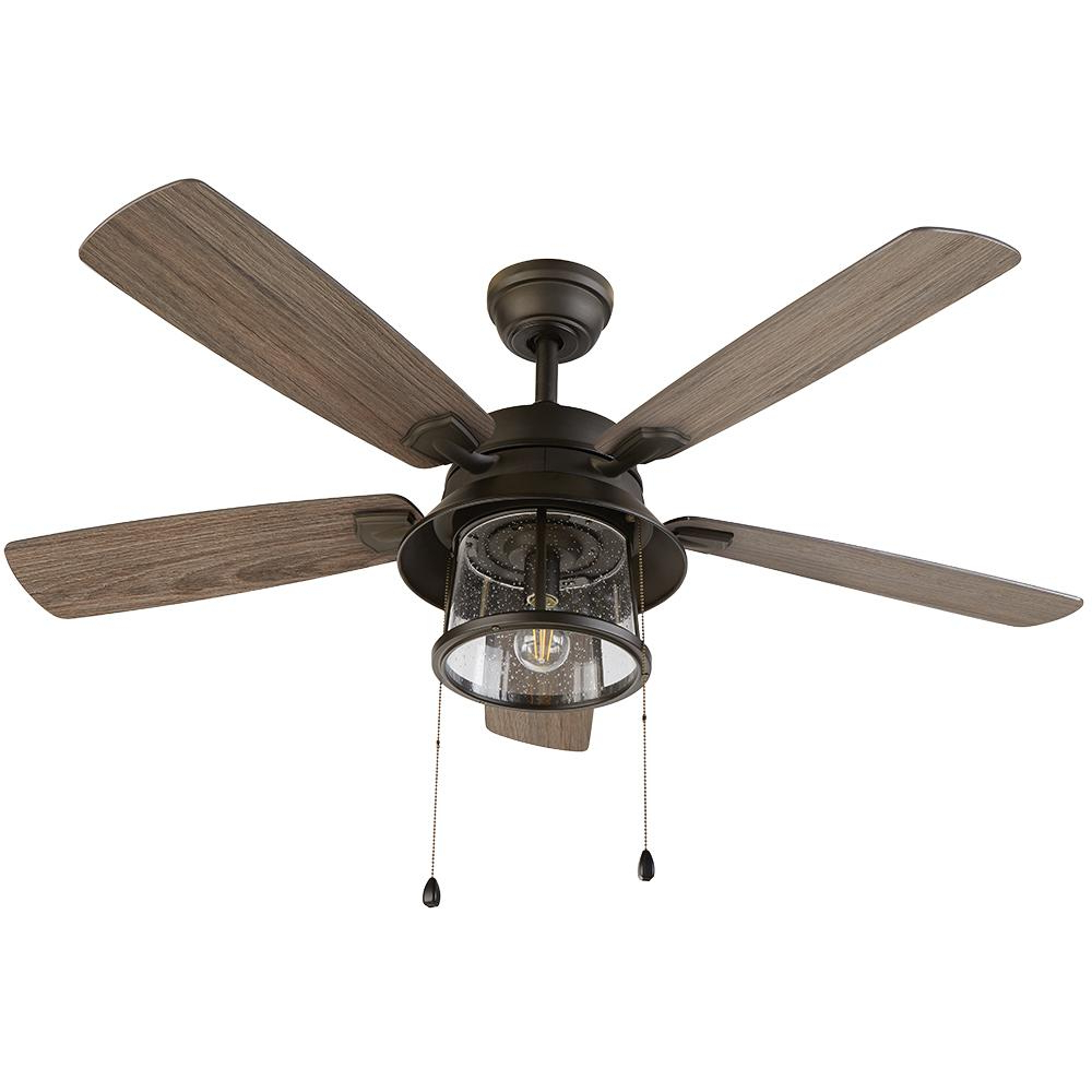 Well Liked Beltran 5 Blade Ceiling Fans With Regard To Home Decorators Collection Shanahan 52 In (View 20 of 20)