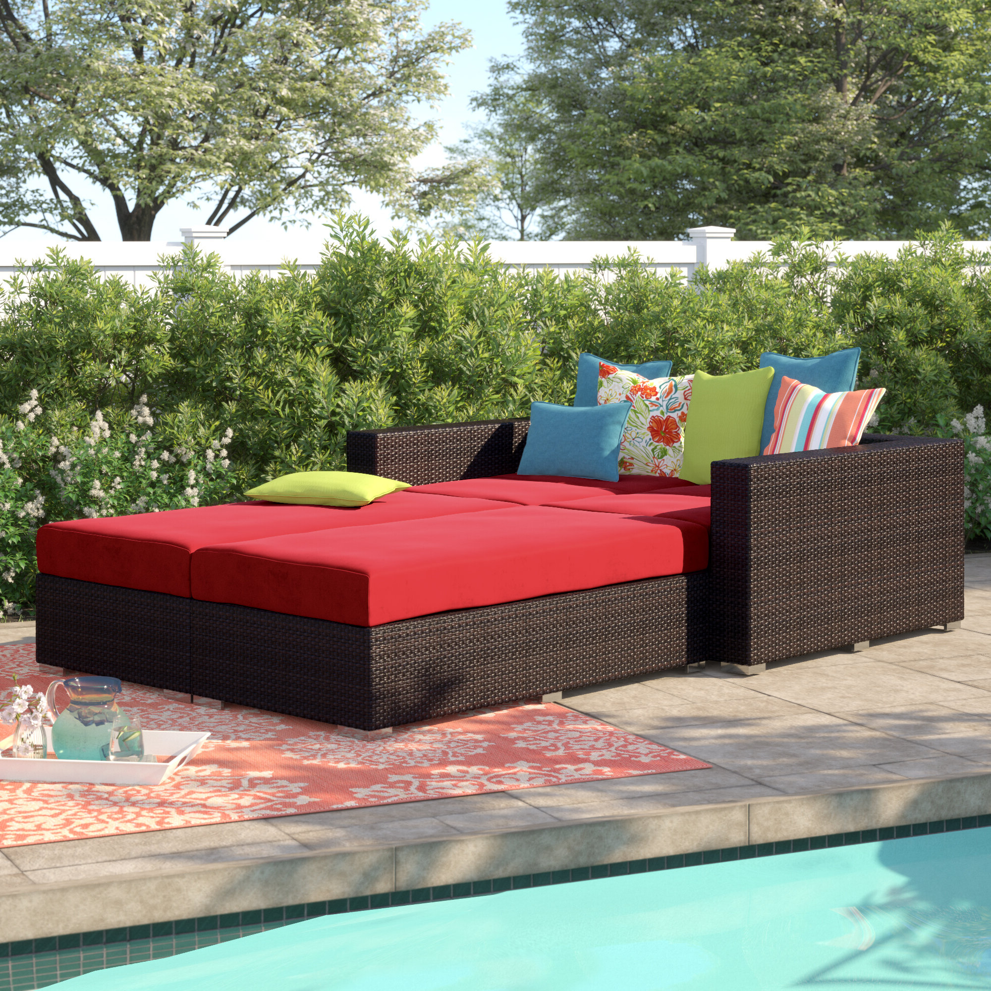 Well Liked Brentwood 4 Piece Patio Daybed With Cushions Regarding Brentwood Patio Daybeds With Cushions (View 23 of 25)