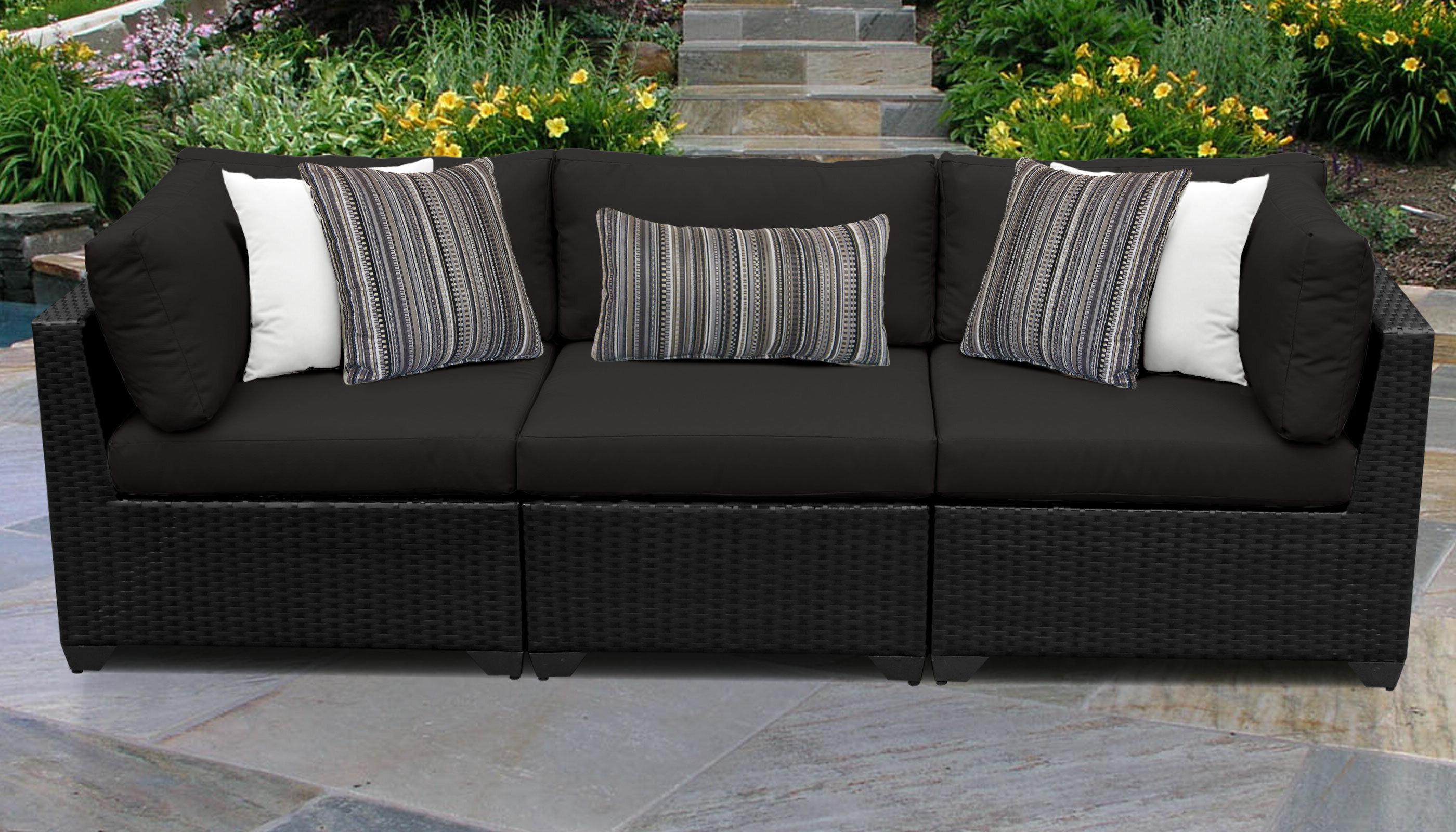 Well Liked Camak Patio Sofa With Cushions Intended For Camak Patio Sofas With Cushions (View 7 of 20)