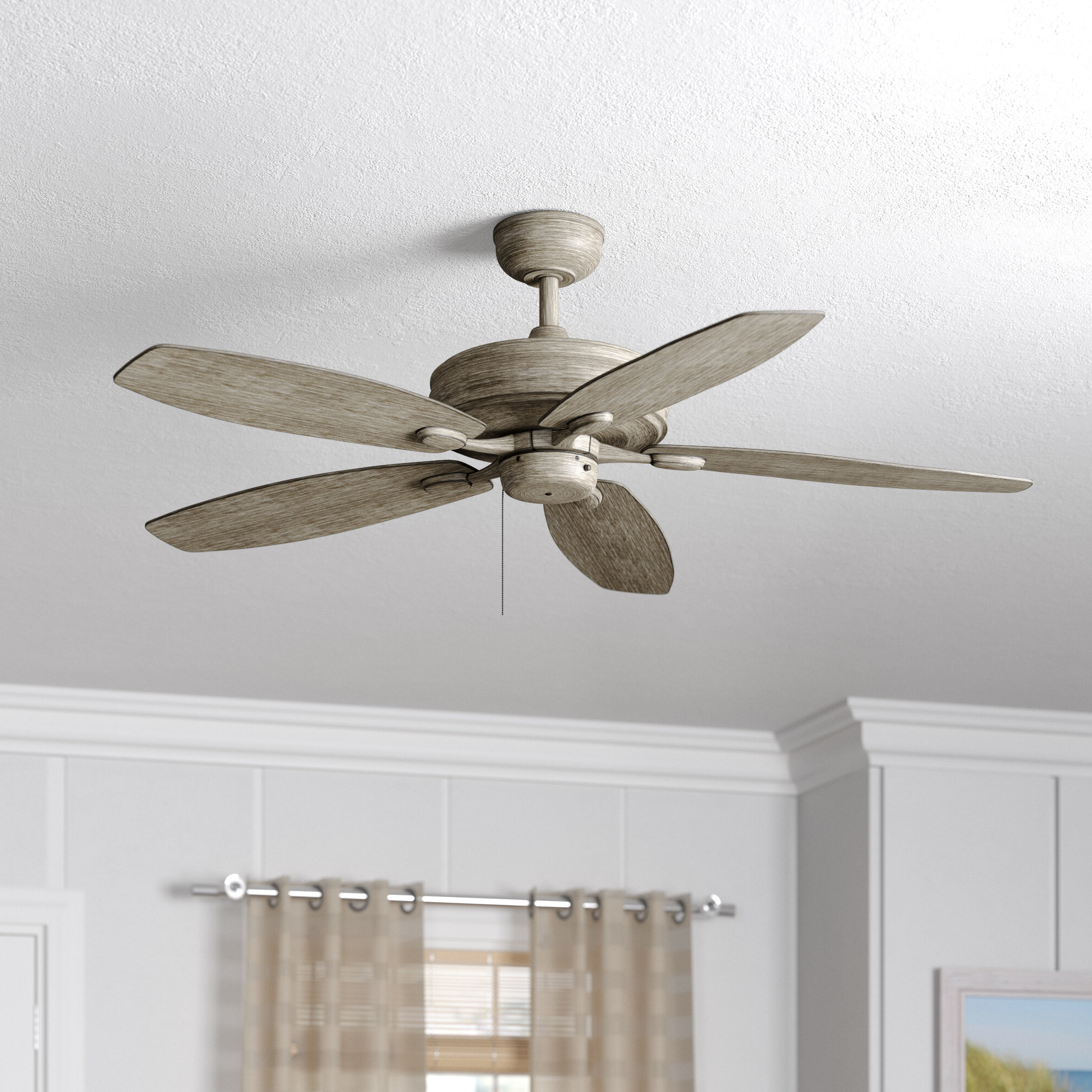 "Well Liked Cerro 5 Blade Ceiling Fans Pertaining To Genevie 52"" Kentwood 5 Blade Ceiling Fan (View 2 of 20)"