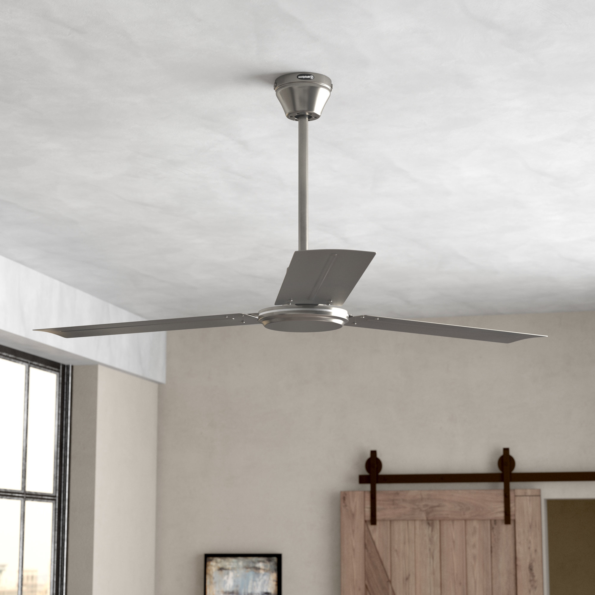 Well Liked Emil 3 Blade Ceiling Fans Within 56 Emil 3 Blade Industrial Ceiling Fanoutdoor Ceiling Fans (View 19 of 20)