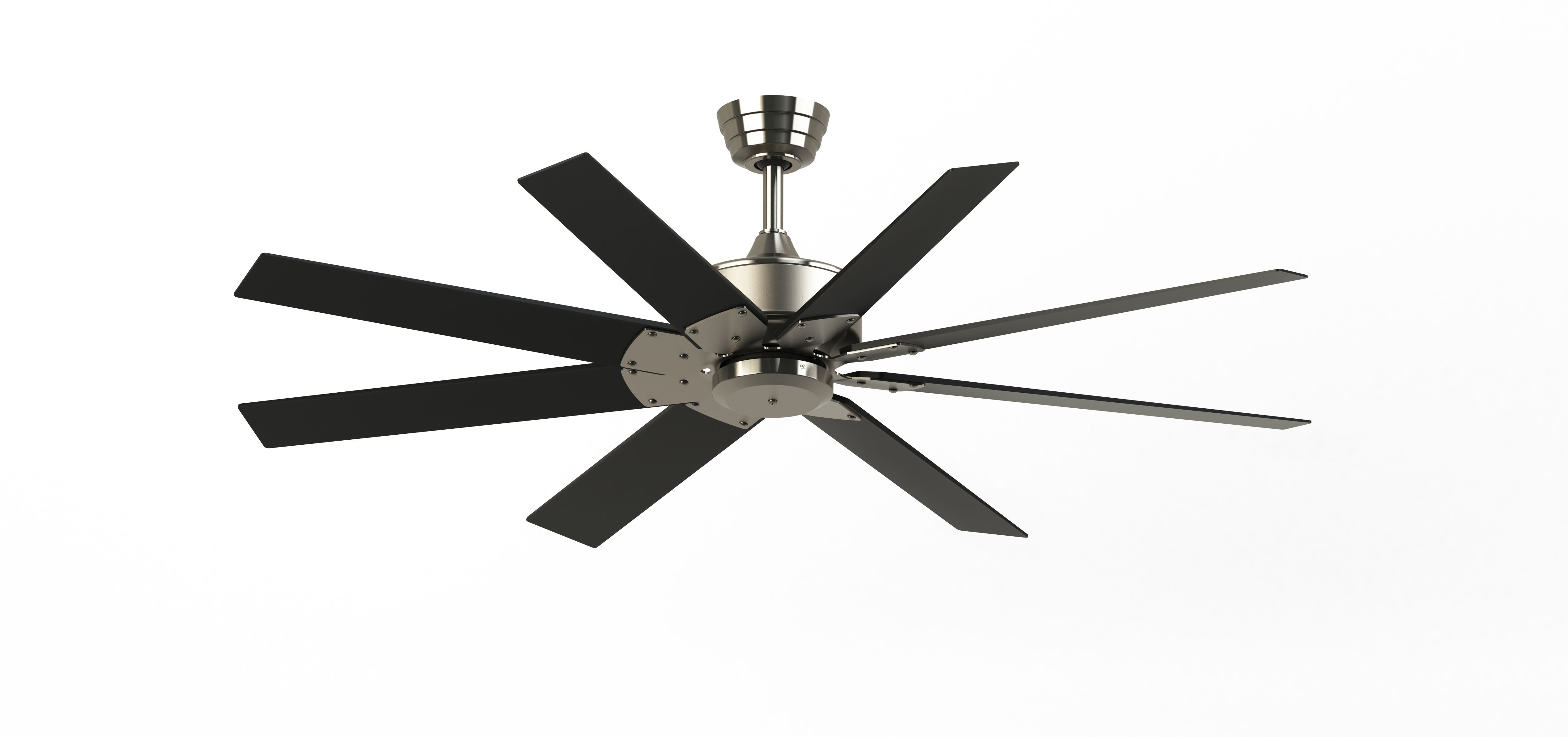 "Well Liked Fanimation Fpd7912bbn 52bn Brushed Nickel Levon Custom 52"" 8 Throughout Levon 8 Blade Ceiling Fans (View 16 of 20)"