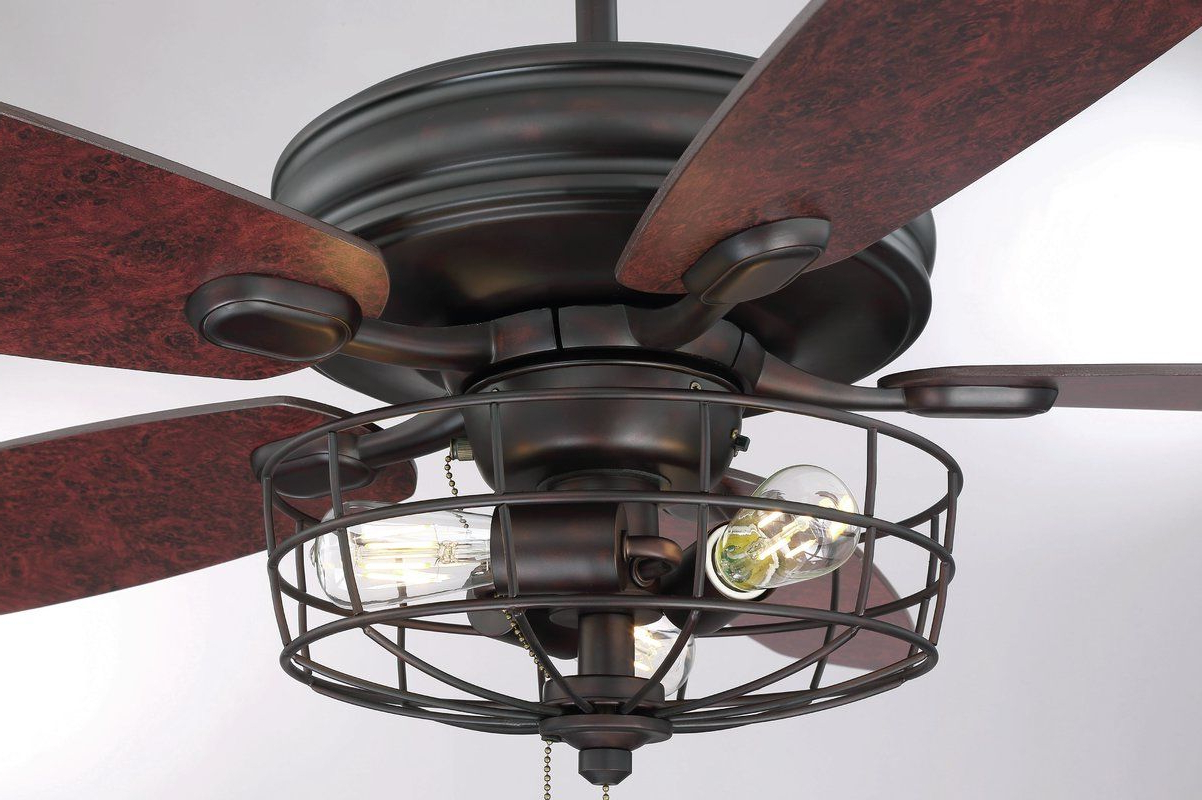 "Well Liked Glenpool 5 Blade Ceiling Fans With Regard To 52"" Glenpool 5 Blade Ceiling Fan In (View 2 of 20)"