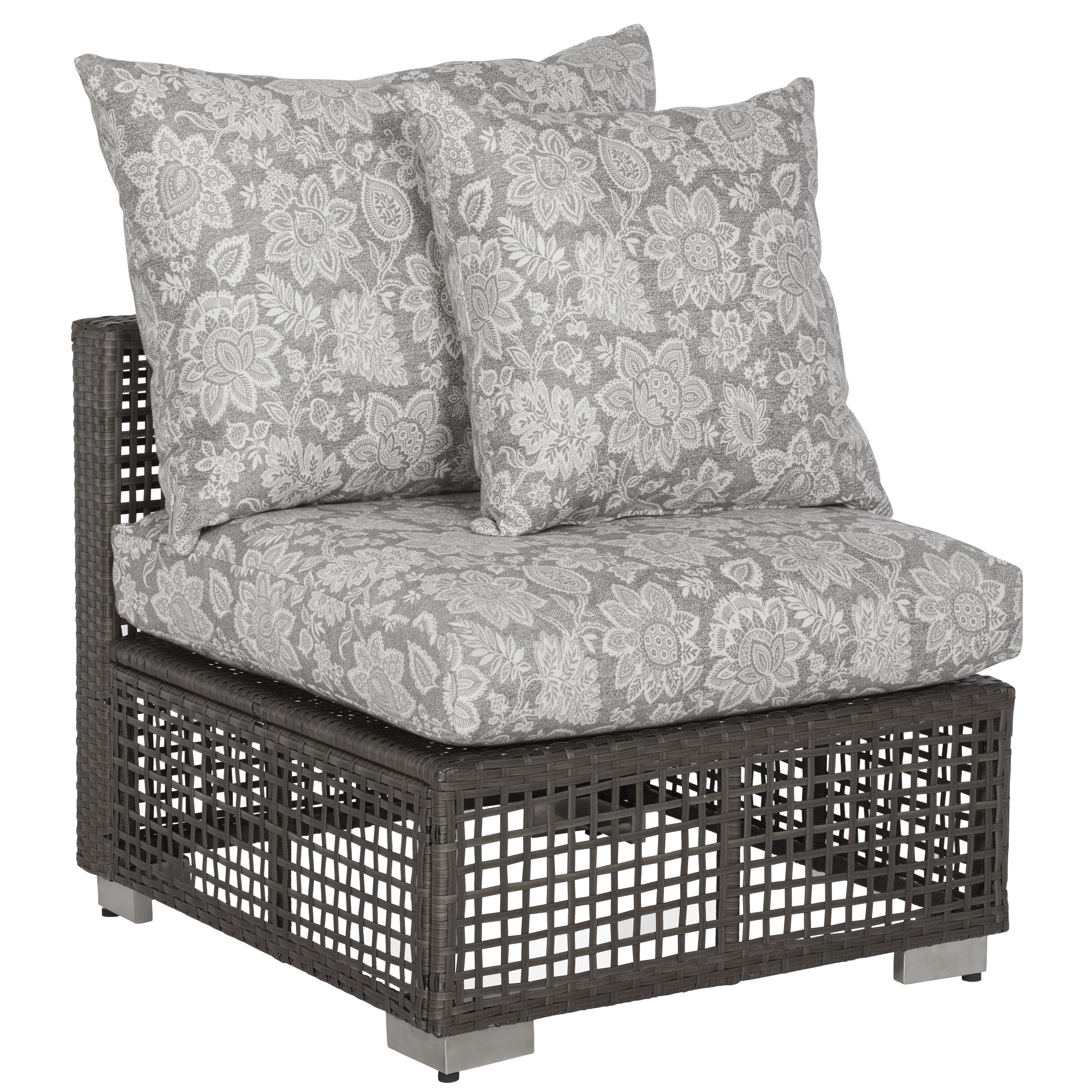 Well Liked Ivy Bronx Mcmanis Outdoor Open Weave Rattan Patio Chair With Inside Mcmanis Patio Sofas With Cushion (View 19 of 20)