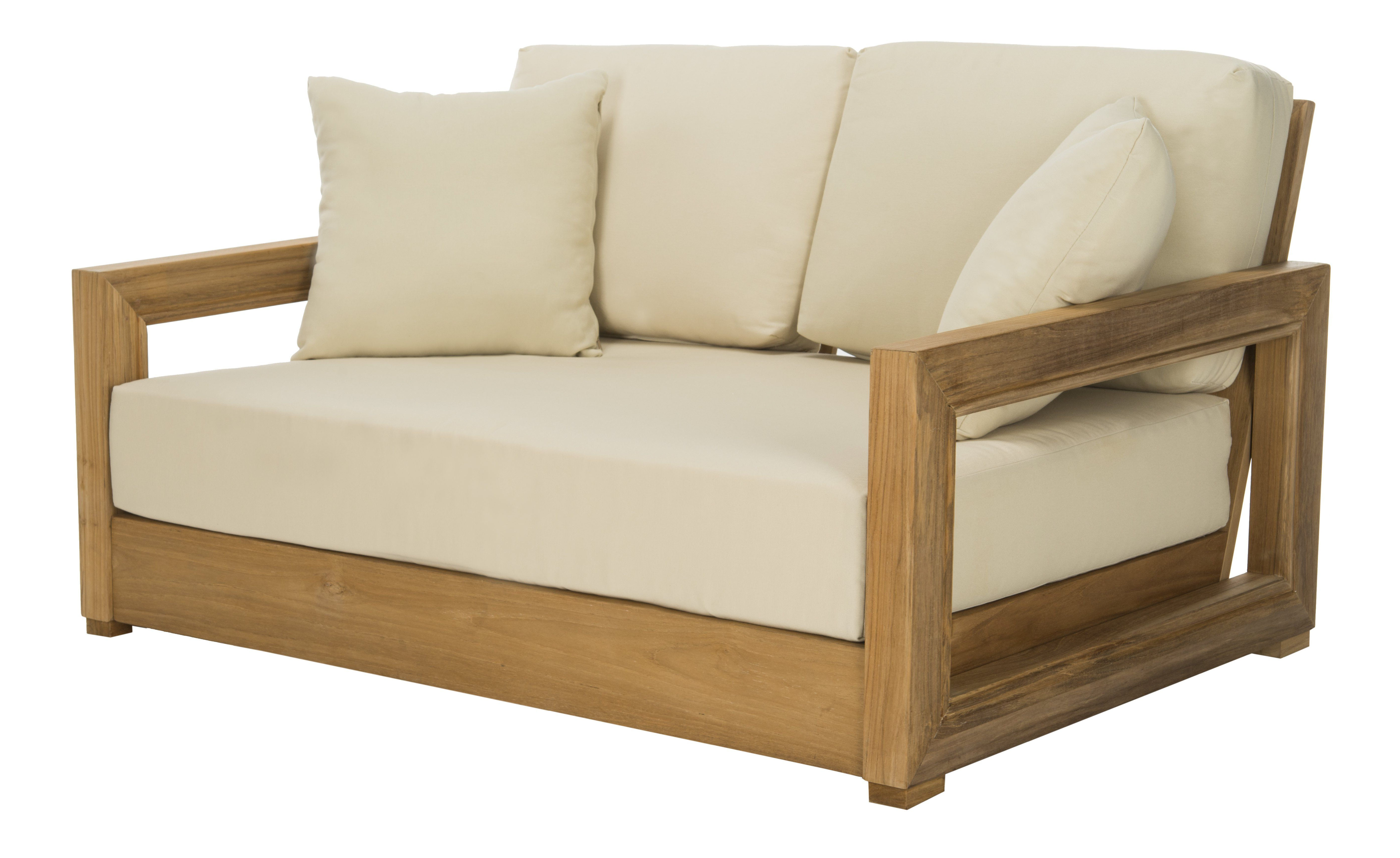 Well Liked Montford Teak Loveseats With Cushions With Lakeland Teak Loveseat With Cushions (View 19 of 20)