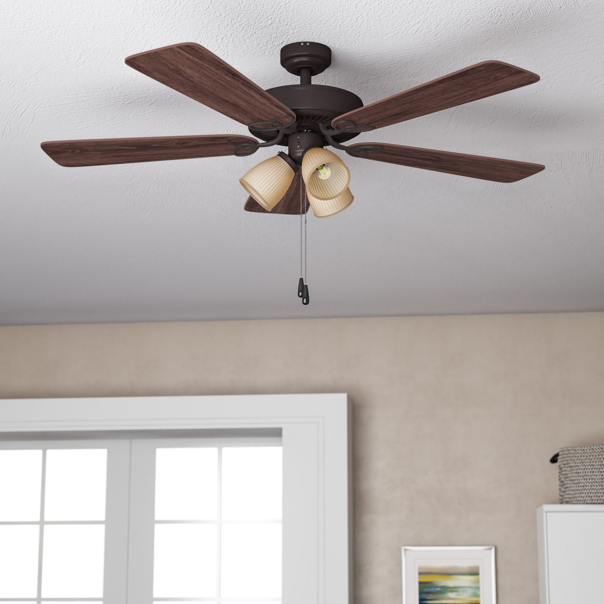 """Well Liked Napoli 5 Blade Led Ceiling Fans For 52"""" Cumberbatch 5 Blade Led Ceiling Fan (View 20 of 20)"""