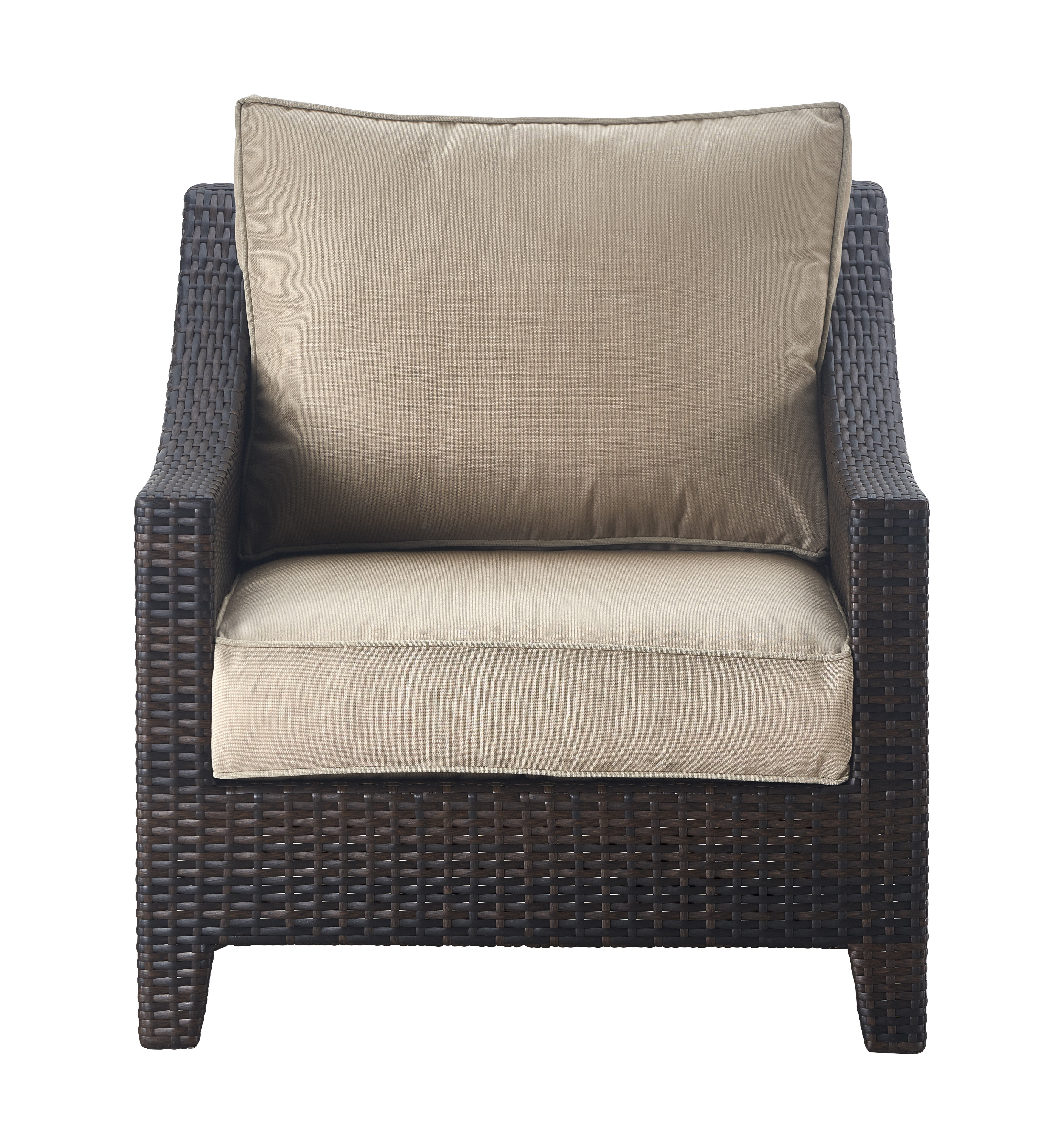 Well Liked Tahoe Outdoor Wicker Patio Chair With Cushions For Stapleton Wicker Resin Patio Sofas With Cushions (View 19 of 20)