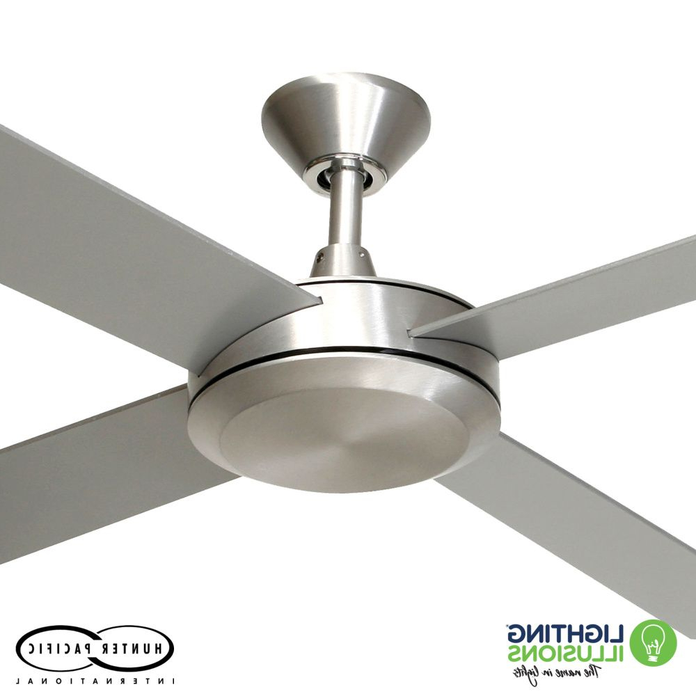 """Well Liked White Hunter Pacific Concept 2 52"""" (1320Mm) Ceiling Fan With Timber Blades Regarding Concept Ii 3 Blade Ceiling Fans (View 20 of 20)"""