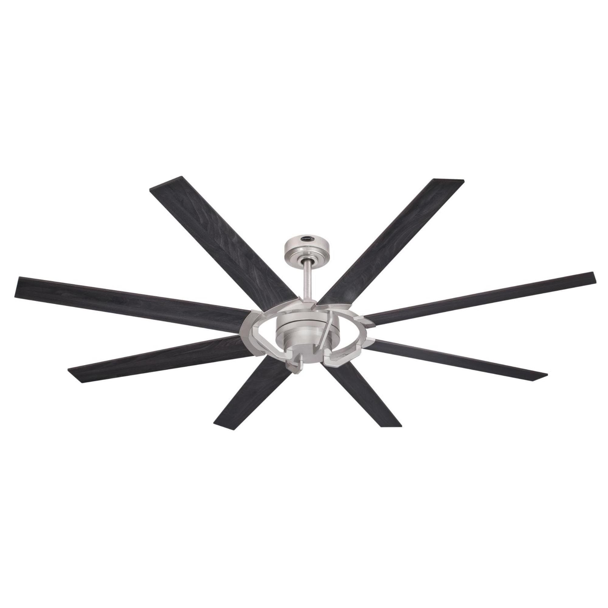 Westinghouse 7217300 Damen 68inch Nickel Luster Indoor Dc Throughout Fashionable Bankston 8 Blade Led Ceiling Fans (View 7 of 20)