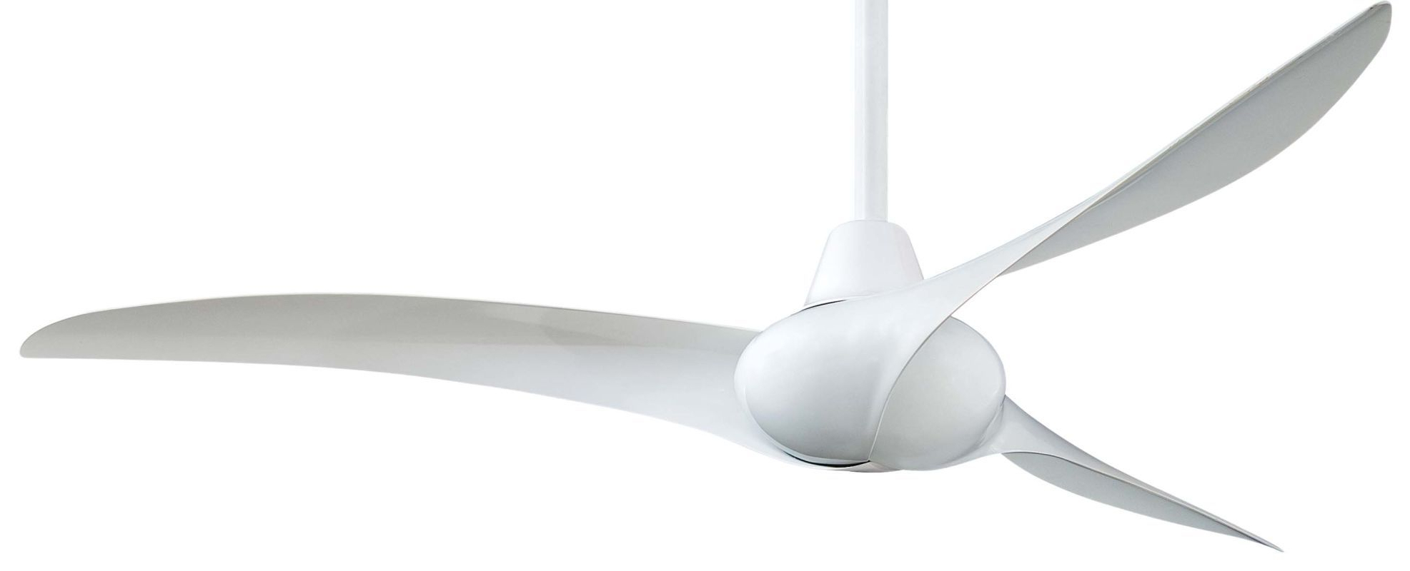 White Ceiling Fan, Ceiling Fan With 2019 Wave 3 Blade Ceiling Fans With Remote (View 17 of 20)