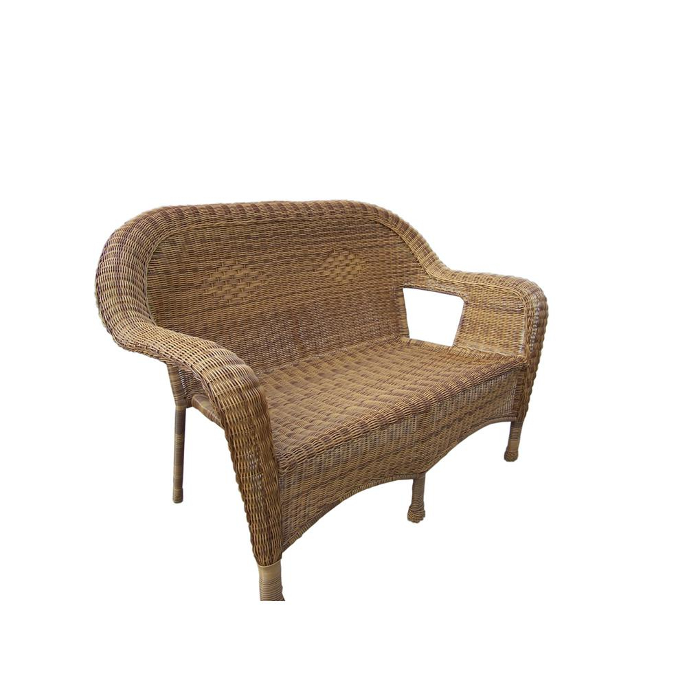 Wicker Loveseats For Widely Used Natural Wicker Outdoor Loveseat (View 14 of 20)