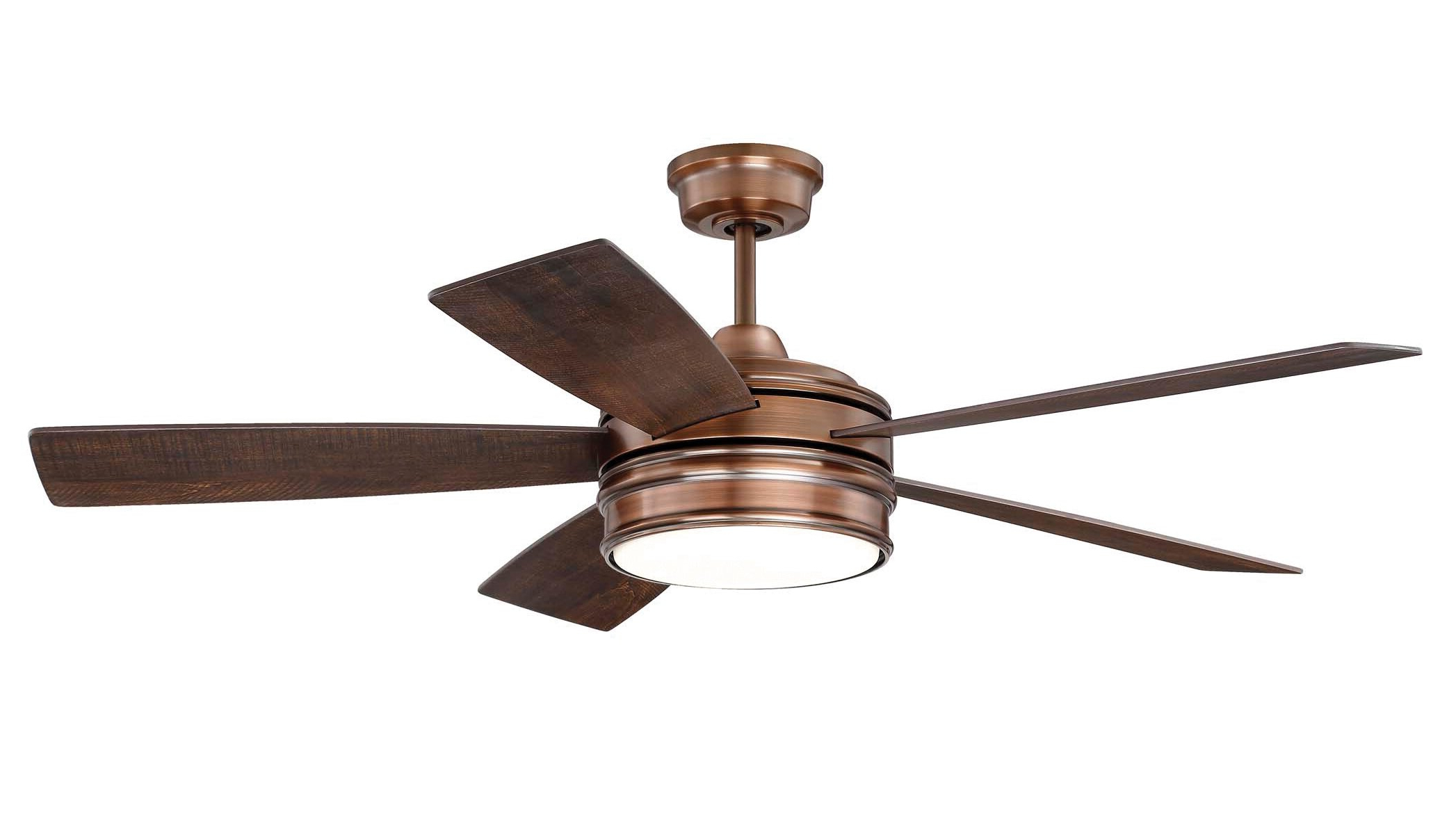 """Widely Used 52"""" Winchcombe 5 Blade Led Ceiling Fan With Remote Light Kit Pertaining To Ronan 3 Blade Ceiling Fans (View 19 of 20)"""