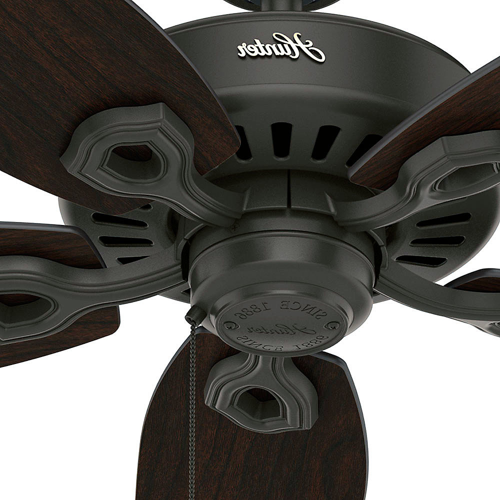 """Widely Used Builder Elite 5 Blade Ceiling Fans Regarding Details About Hunter 53292 52"""" Indoor / Outdoor Ceiling Fan – 5 Reversible  Blades Included (View 19 of 20)"""