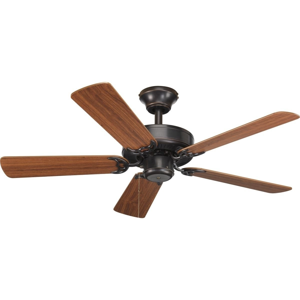 Widely Used Builder Low Profile 5 Blade Ceiling Fans With Regard To Progress Lighting Airpro Builder 42 Inch 5 Blade Antique Bronze Ceiling Fan Lighting Fixture (View 14 of 20)