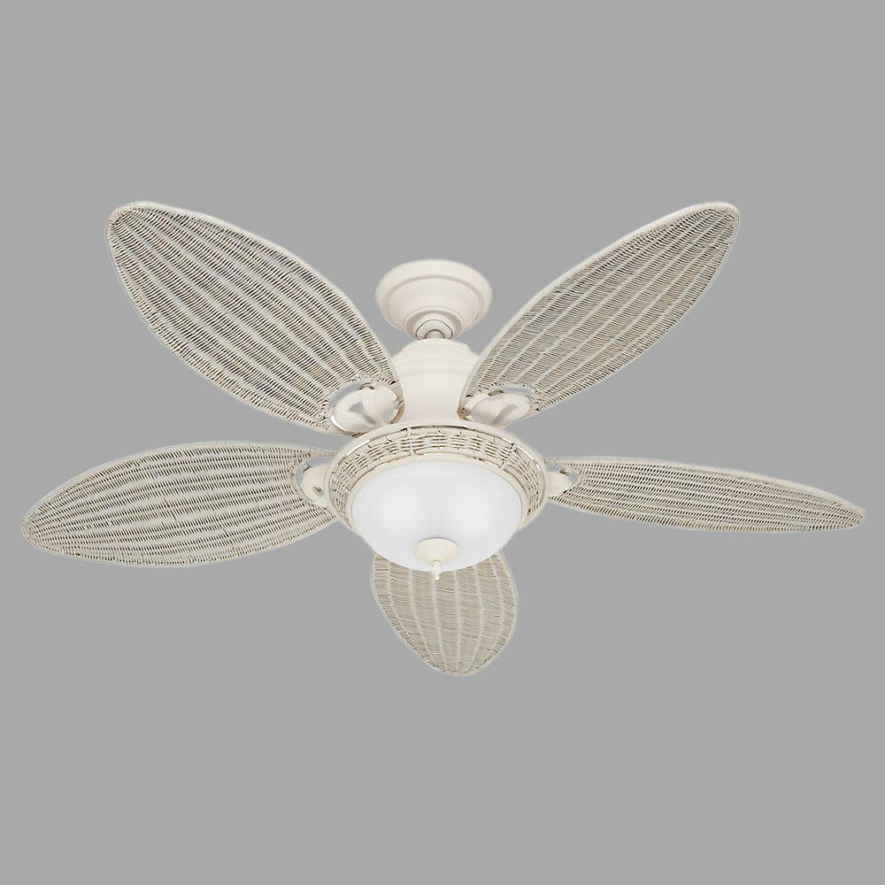 Widely Used Caribbean Breeze 5 Blade Ceiling Fans Intended For Hunter Caribbean Breeze 54 In (View 20 of 20)