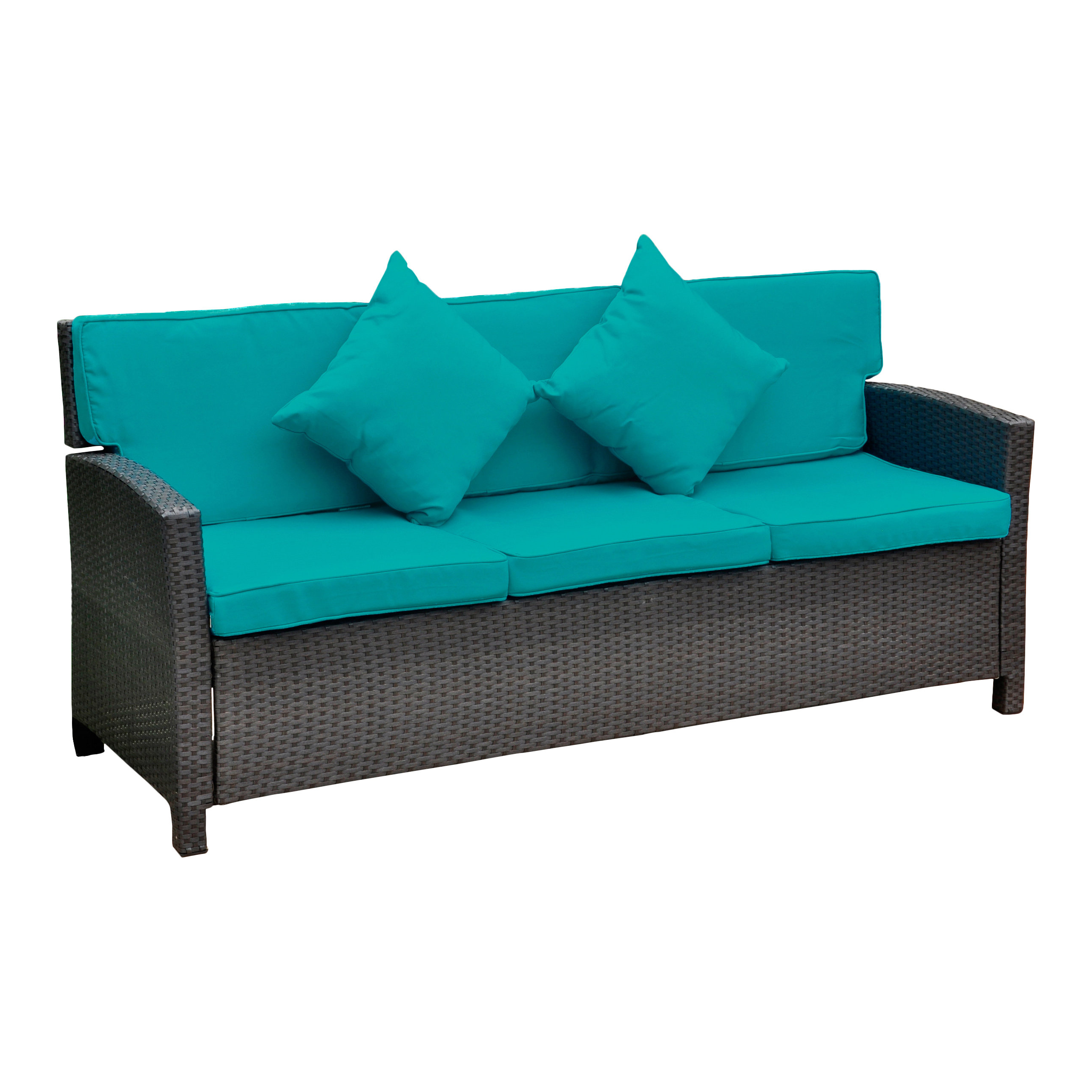 Widely Used Charlton Home Stapleton Wicker Resin Sofa With Cushions In Stapleton Wicker Resin Patio Sofas With Cushions (View 20 of 20)