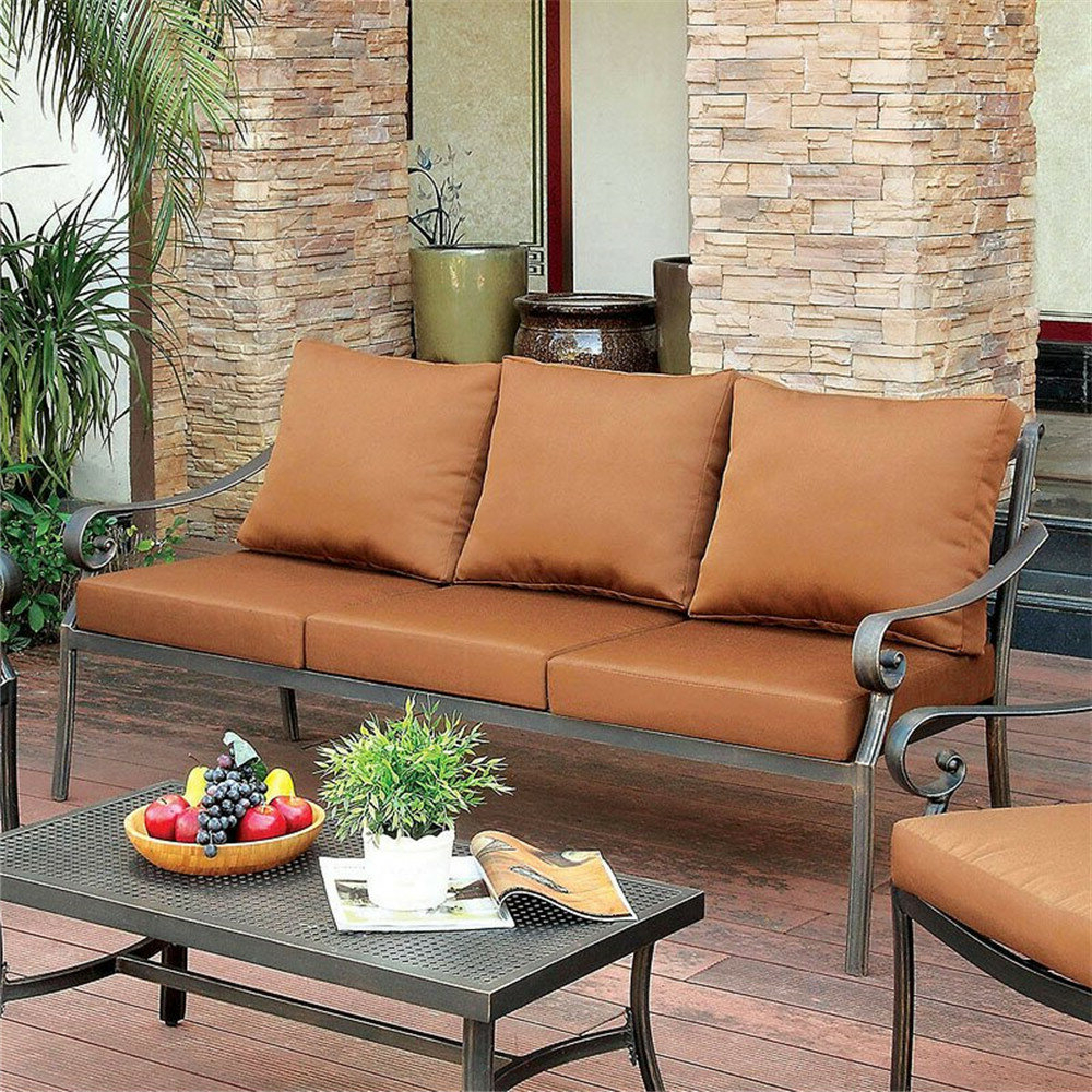 Widely Used Clemence Patio Sofa With Cushions Throughout Hursey Patio Sectionals (View 20 of 20)
