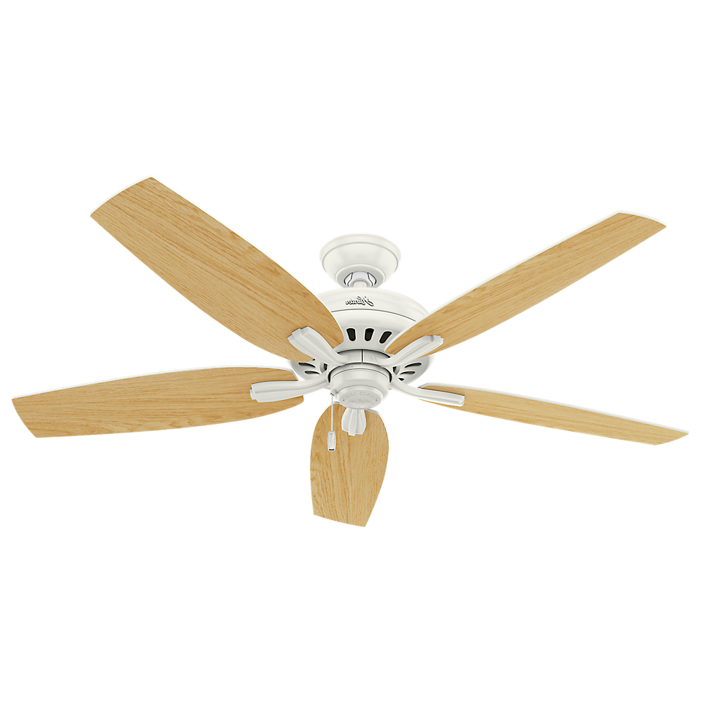 "Widely Used Hunter 56"" Newsome Brushed Nickel Ceiling Fan With Light Throughout Newsome 5 Blade Ceiling Fans (View 20 of 20)"