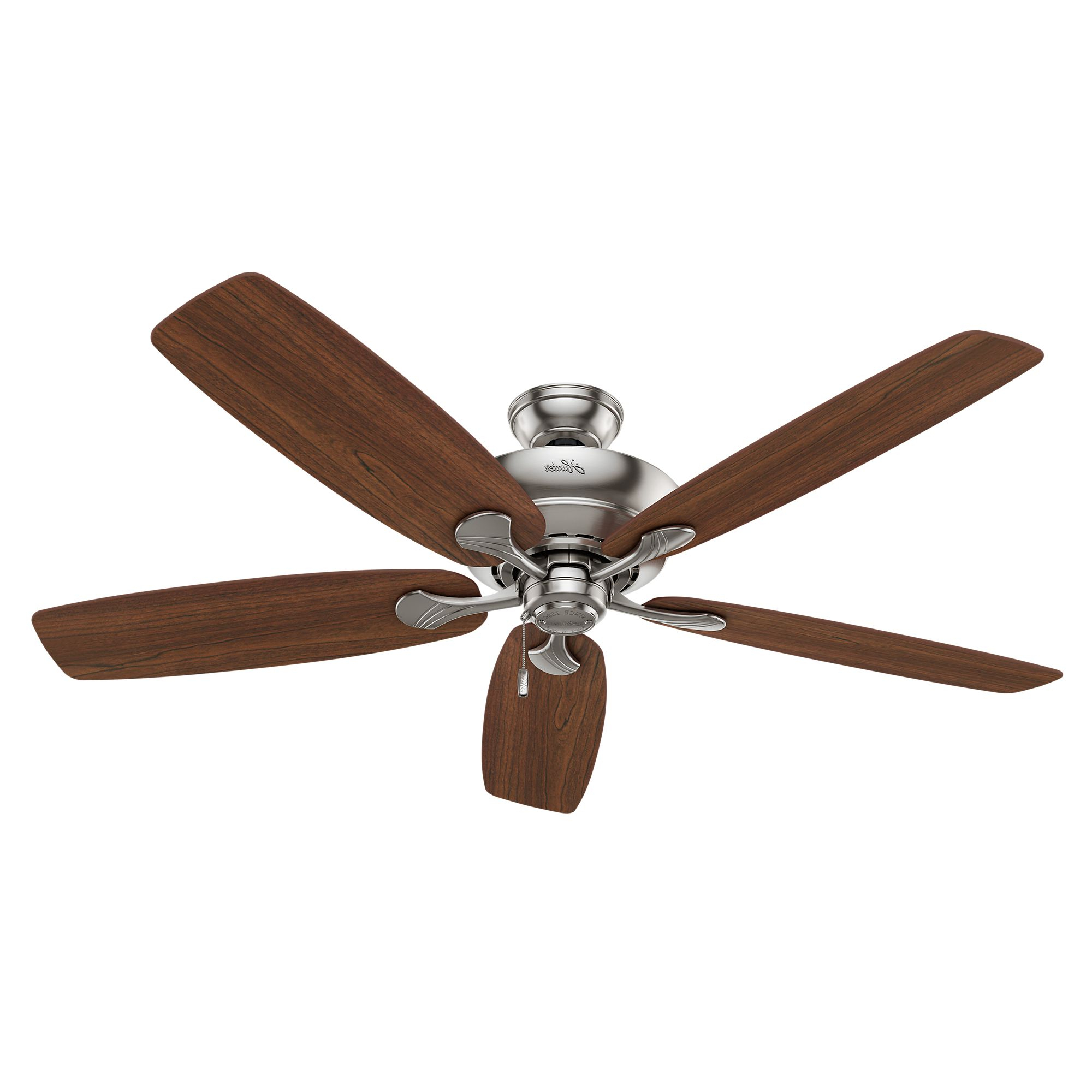 Widely Used Hunter Regalia Ii 60 In Brushed Nickel Led Indoor Throughout Donegan 5 Blade Ceiling Fans (View 20 of 20)