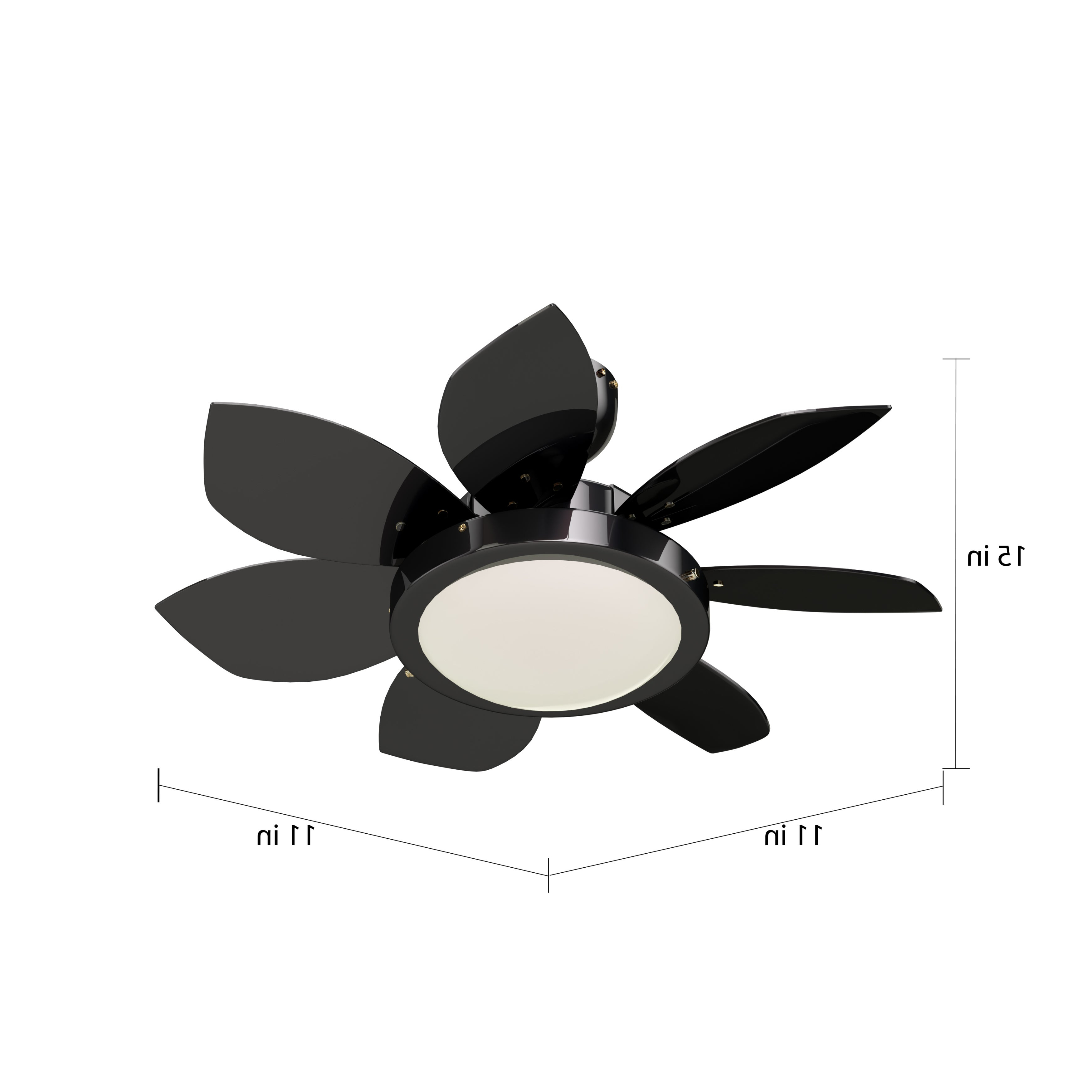 Widely Used Loft 3 Blade Ceiling Fans With Carbon Loft Crosby 24 Inch Gunmetal 6 Blade Reversible Ceiling Fan With Light (View 20 of 20)