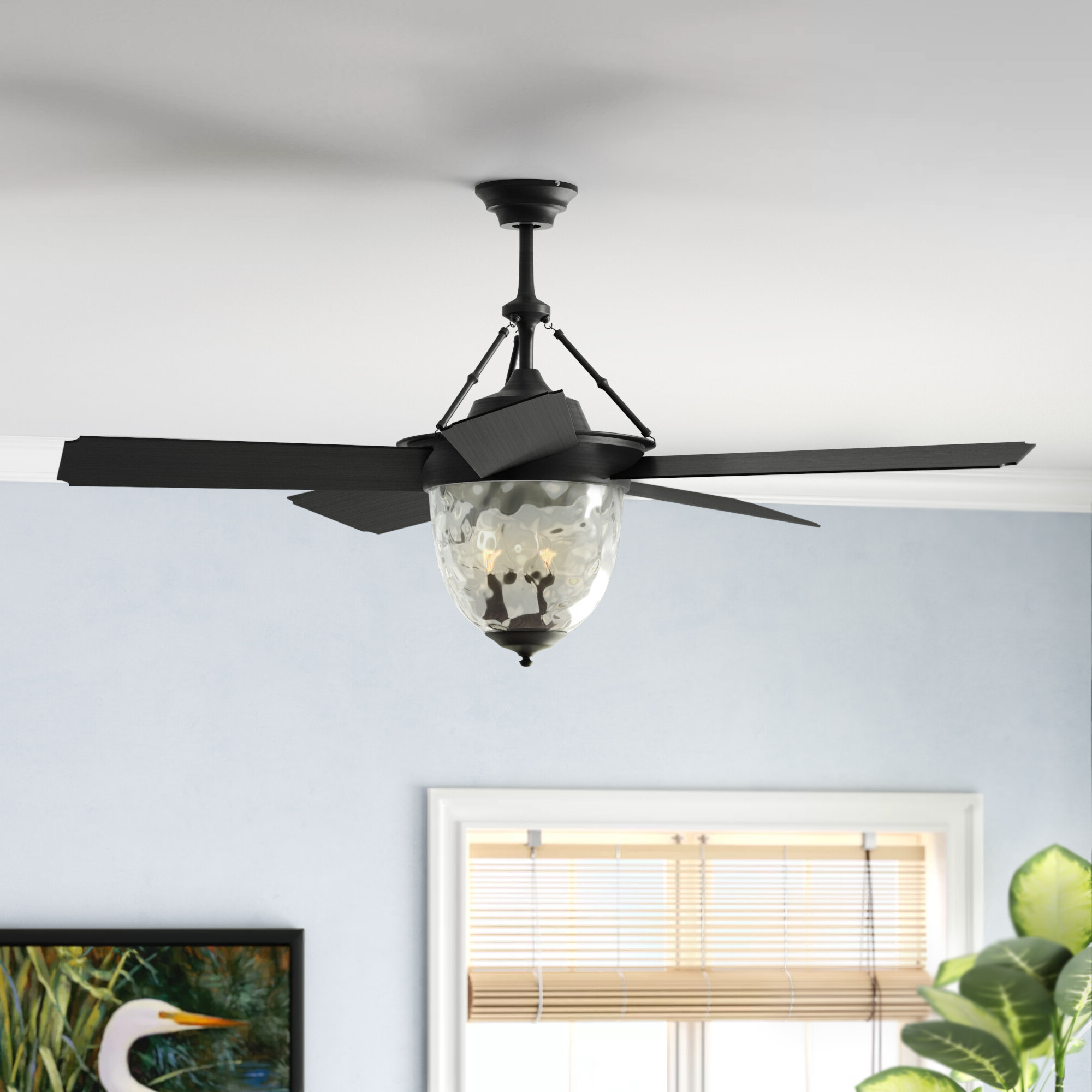 "Widely Used Longshore Tides 52"" Fairmead 5 Blade Ceiling Fan With Wall Remote Throughout Dunaghy 5 Blade Ceiling Fans (View 20 of 20)"