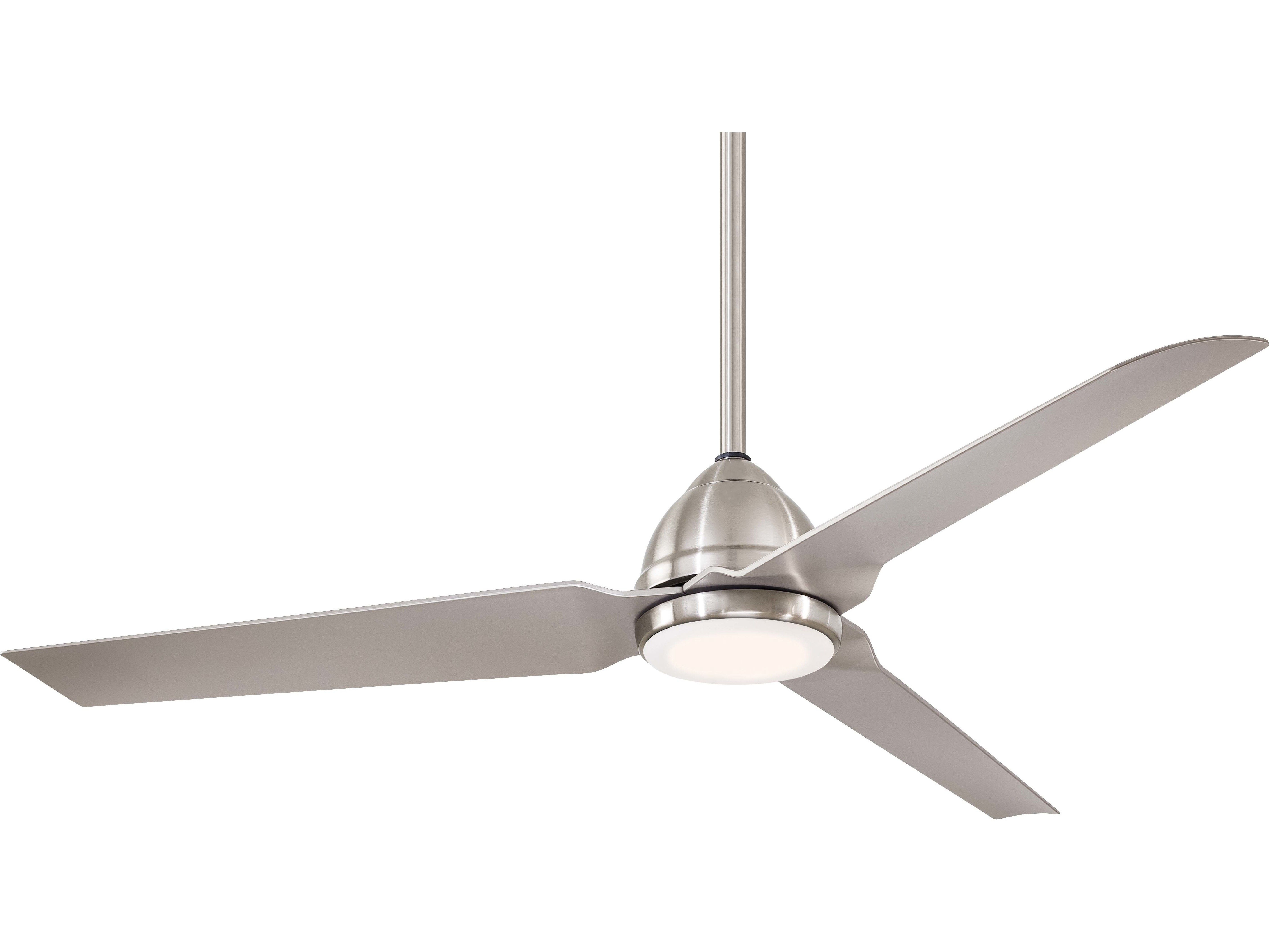 Widely Used Minka Aire Java Brushed Nickel Wet 54'' Wide Led Outdoor Pertaining To Java 3 Blade Outdoor Ceiling Fans (View 20 of 20)