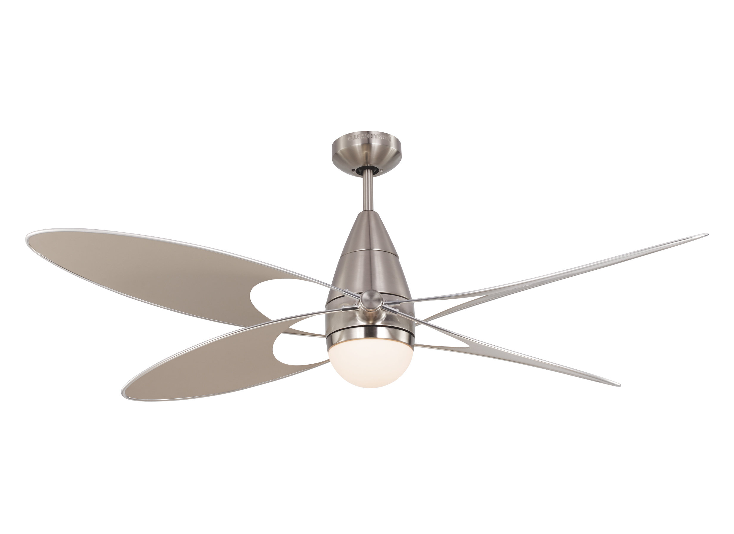"""Widely Used Rainman 5 Blade Outdoor Ceiling Fans Regarding 54"""" Clorinda Butterfly 4 Blade Outdoor Ceiling Fan With Remote (View 20 of 20)"""