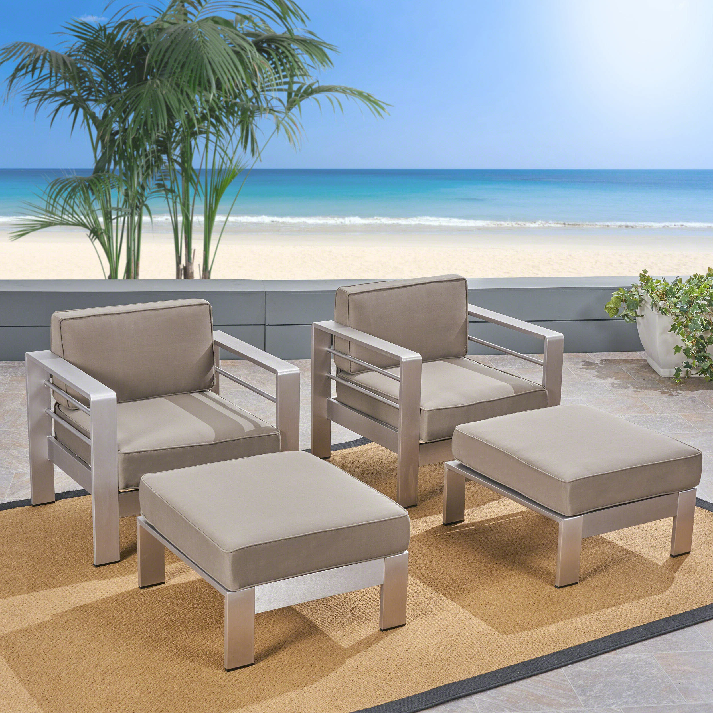 Widely Used Royalston Patio Sofas With Cushions Throughout Royalston Patio Chair With Cushions (View 15 of 20)