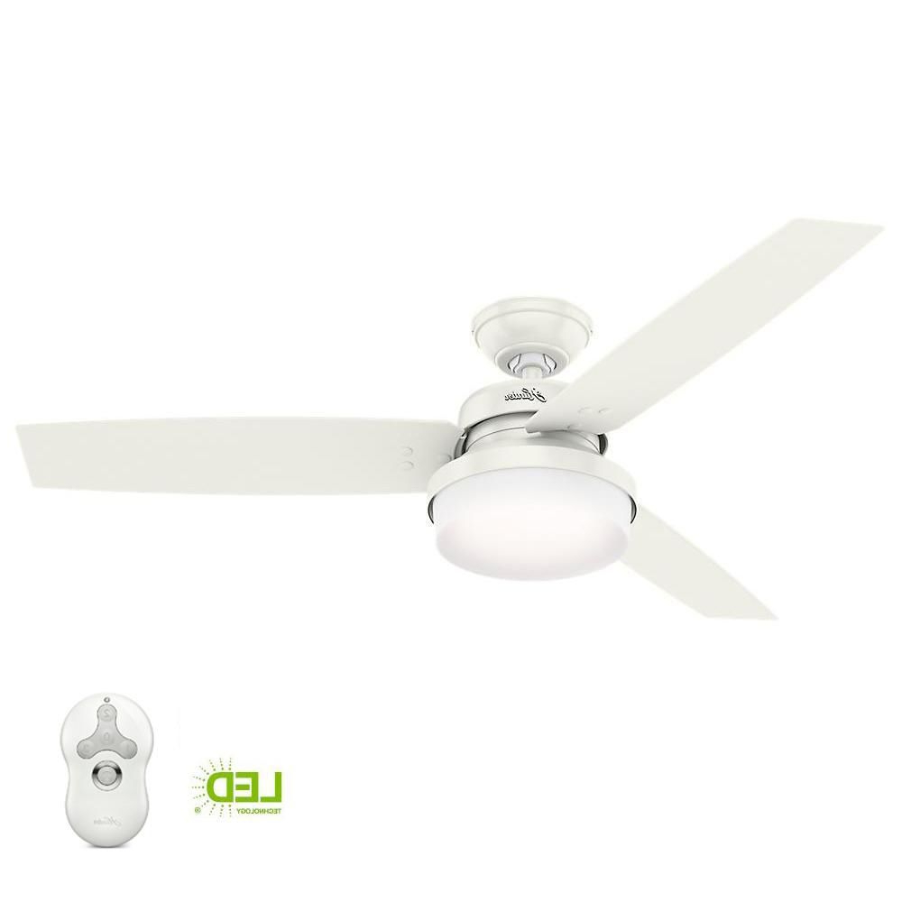Widely Used Sentinel 3 Blade Led Ceiling Fans With Remote Inside Hunter Sentinel 52 In (View 7 of 20)