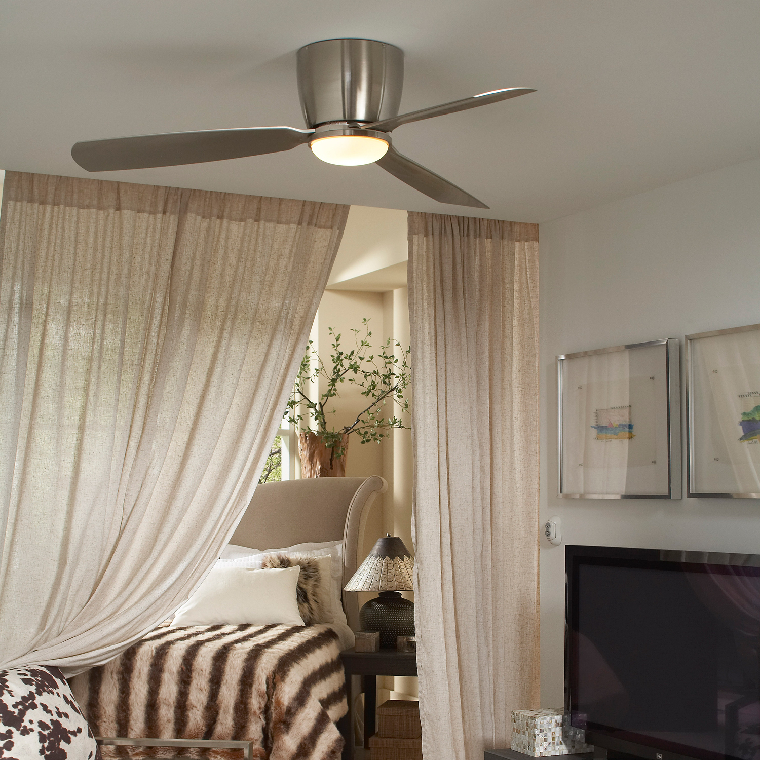 Widely Used Top 10 Modern Ceiling Fans Pertaining To Embrace 3 Blade Ceiling Fans (View 12 of 20)