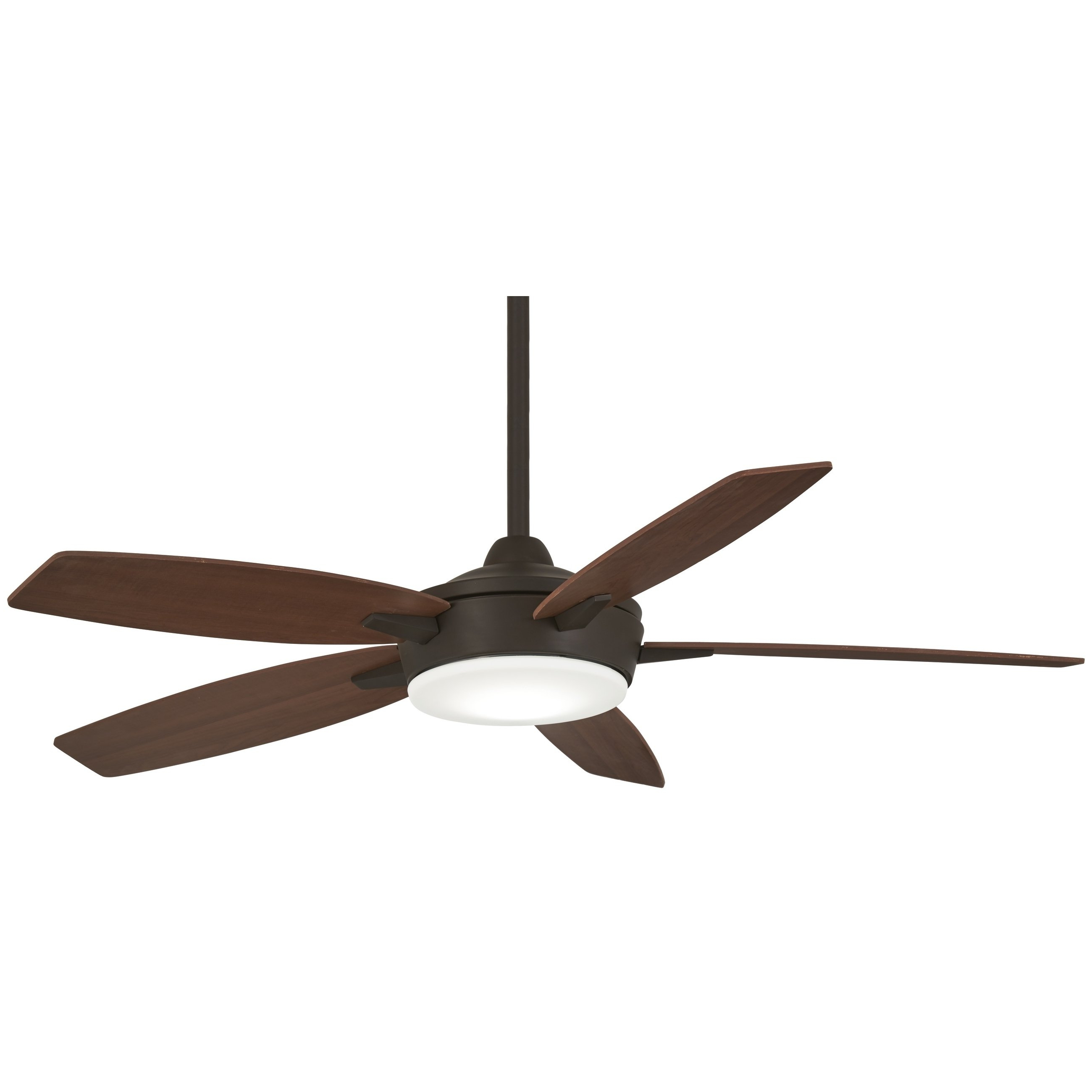 "Wilburton 3 Blade Outdoor Ceiling Fans In Favorite Espace 52"" Led Ceiling Fan In Oil Rubbed Bronze/medium Maple (View 9 of 20)"