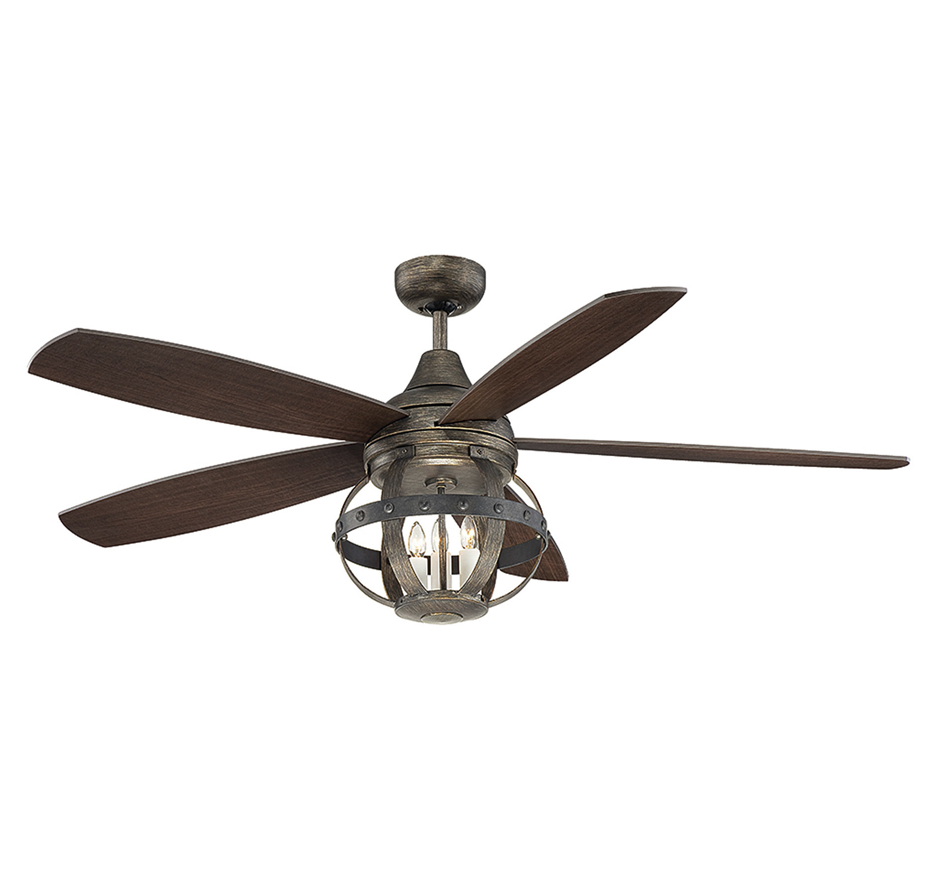 "Wilburton 3 Blade Outdoor Ceiling Fans With Most Current 52"" Wilburton 5 Blade Ceiling Fan With Remote, Light Kit Included (View 4 of 20)"