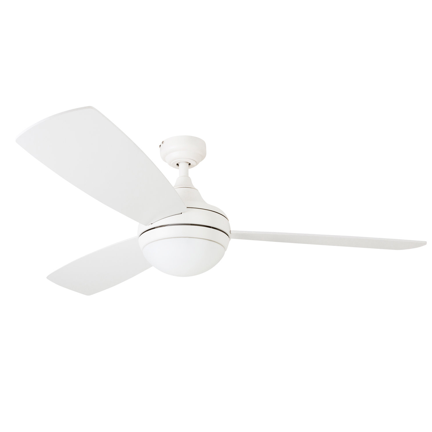 "Wrought Studio 52"" Alyce 3 Blade Led Ceiling Fan With Remote Control For Current Alyce 3 Blade Led Ceiling Fans With Remote Control (View 19 of 20)"