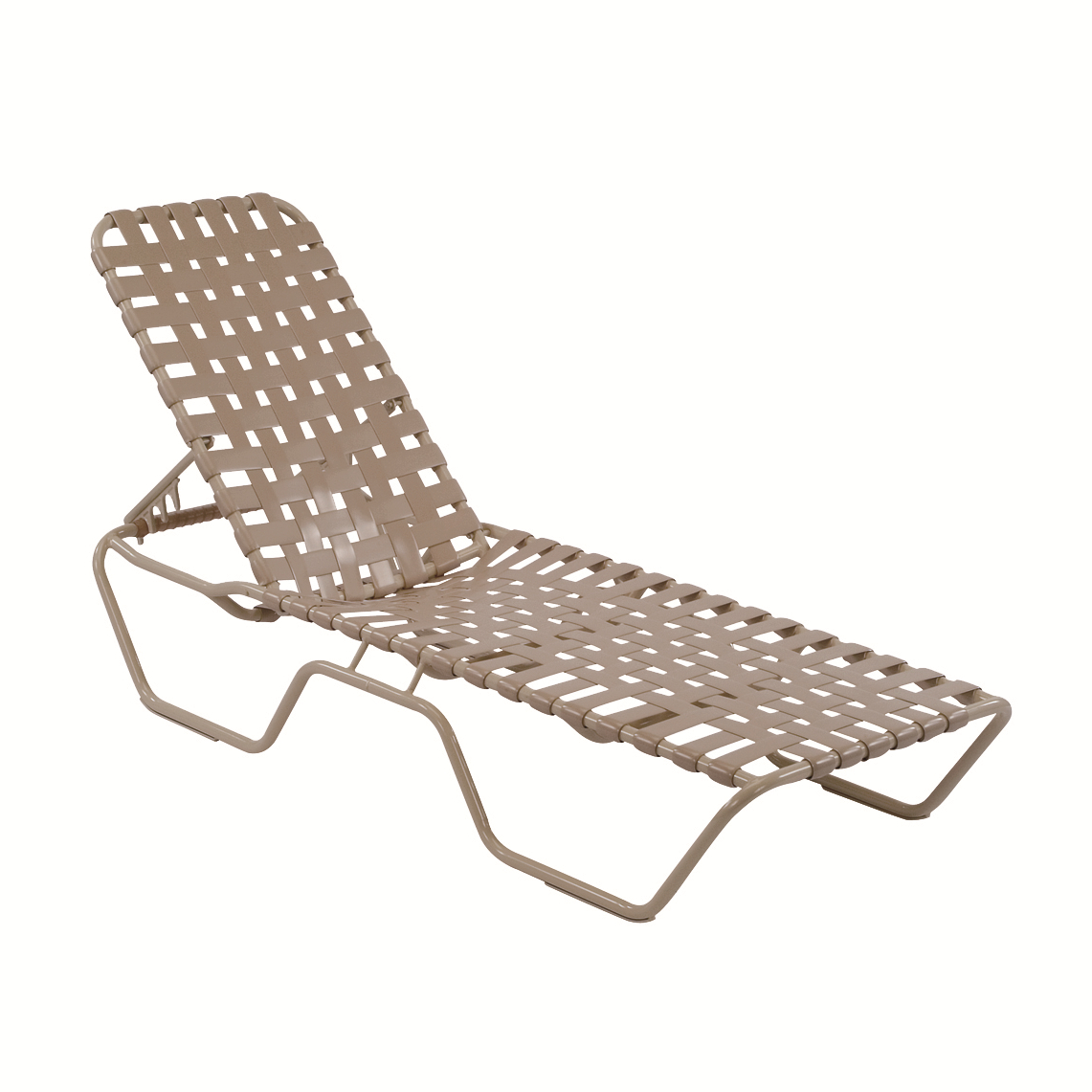 18 In. Seat Neptune Style Aluminum Crossweave Vinyl Strap Inside Famous Shore Aluminum Outdoor Chaises (Gallery 24 of 25)