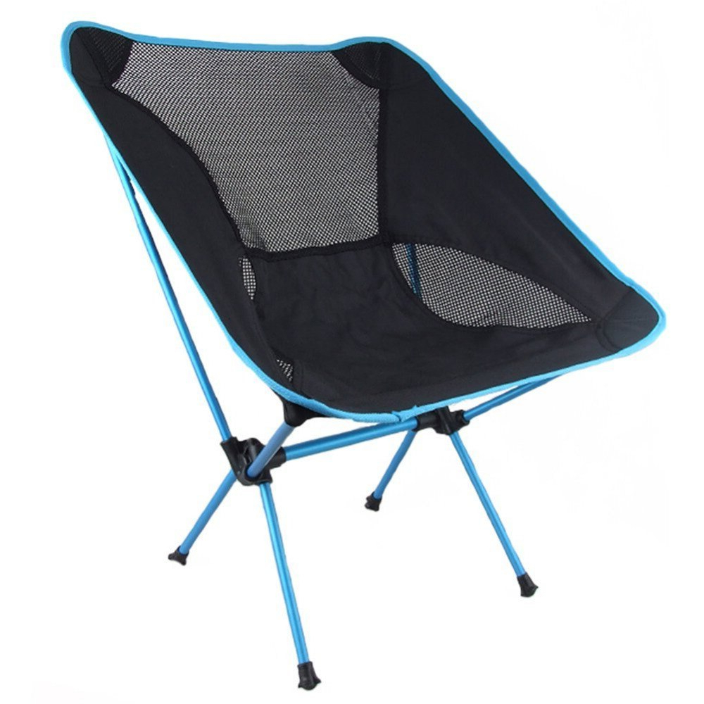1Pcs Nylon Mesh Back Folding Quad Camping Chair With Intended For Most Recently Released Hiteak Pearl Chaise Lounges In Black Mesh Fabric (View 8 of 25)