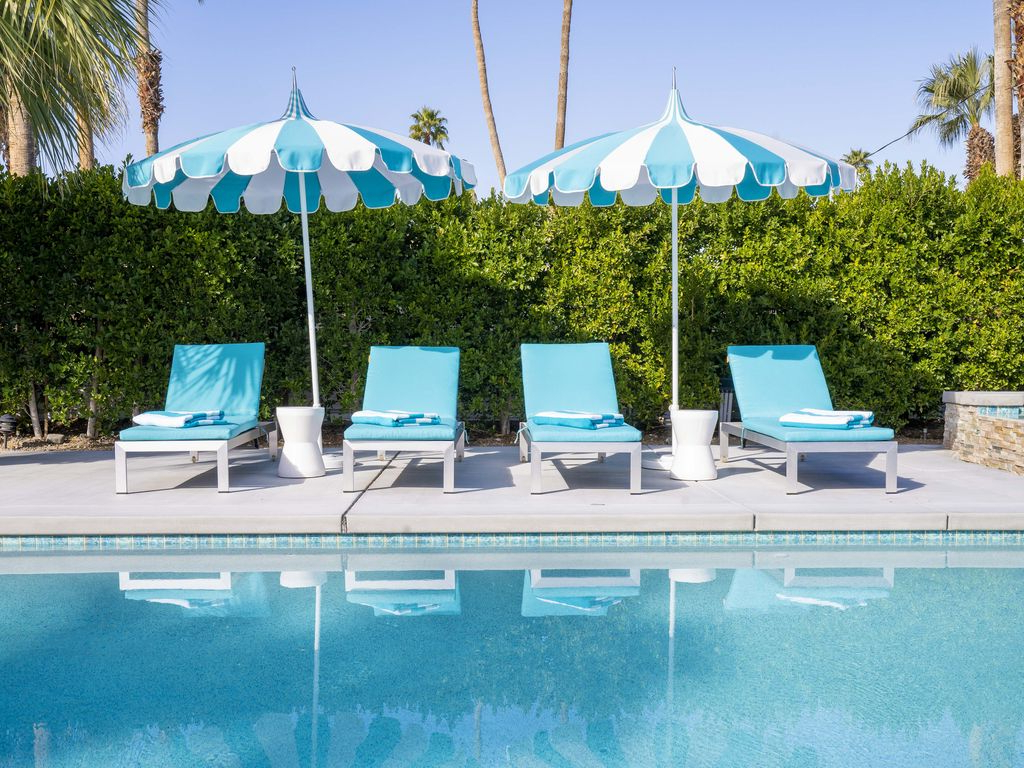 2019 Alexander Sunrise: 3 Br, 2 Ba House In Palm Springs, Sleeps 6 – Sunrise Park With Regard To Outdoor Living Pomona Sunloungers (Gallery 23 of 25)