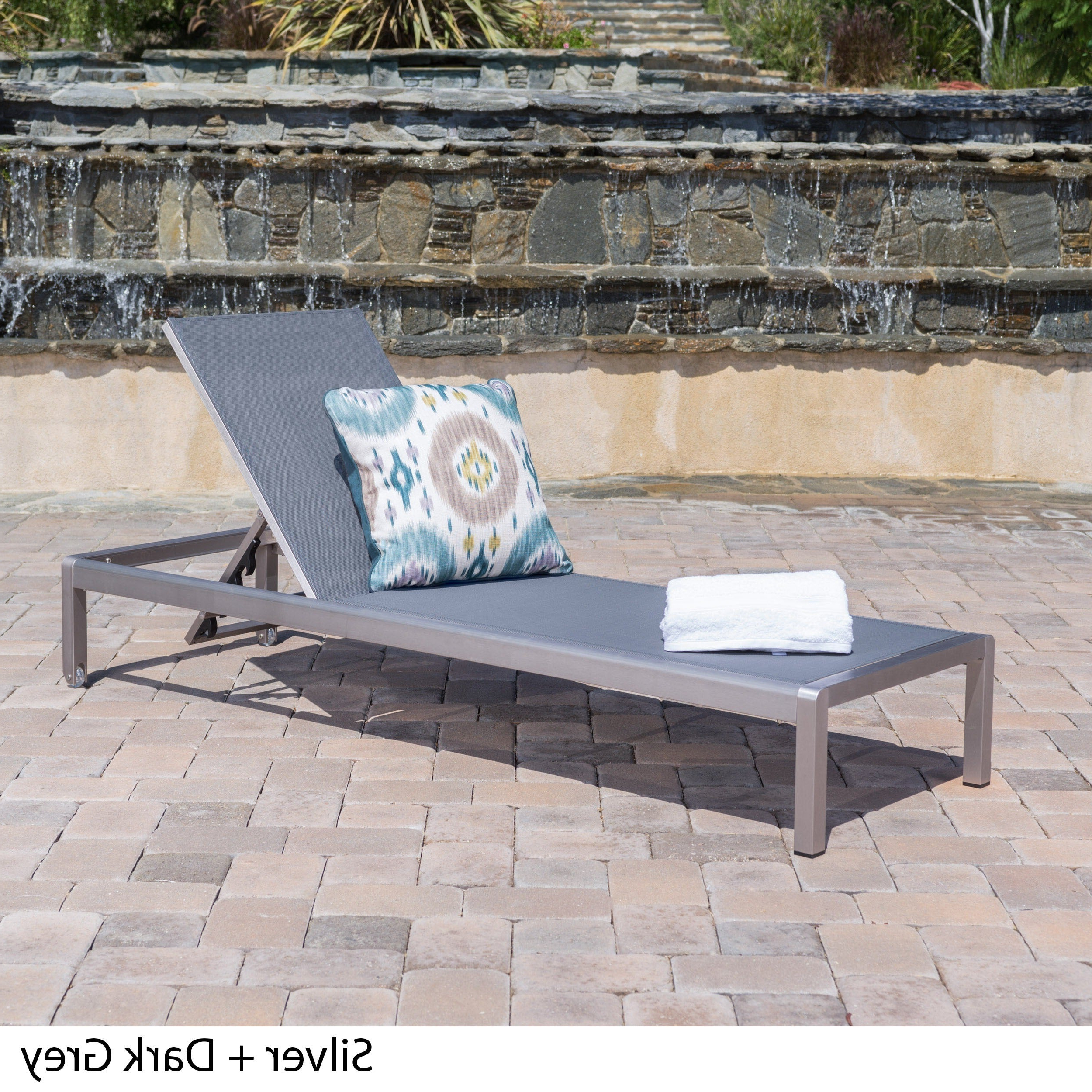 2019 Cape Coral Outdoor Aluminum Adjustable Chaise Loungechristopher Knight  Home Pertaining To Outdoor Aluminum Adjustable Chaise Lounges (View 1 of 25)