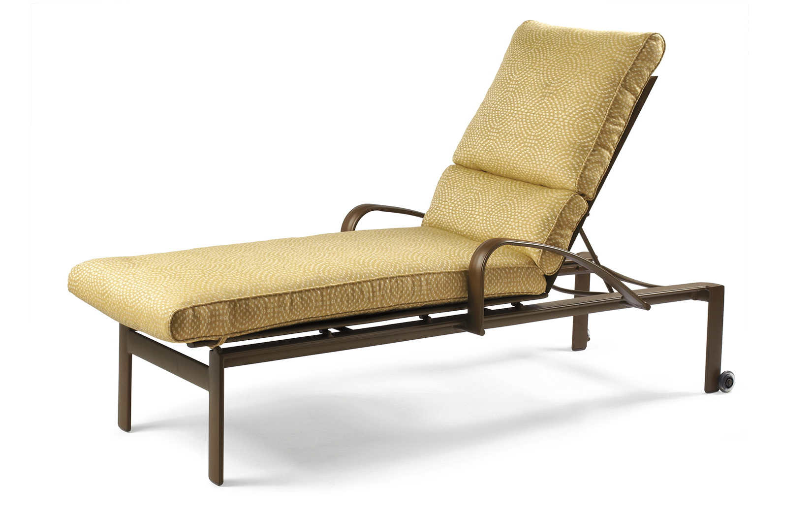 2019 Chaise Lounge Chairs In Bronze With Oatmeal Cushions Pertaining To Belvedere Cushion Outdoor Chaise Lounge With Skate Wheels (Gallery 24 of 25)